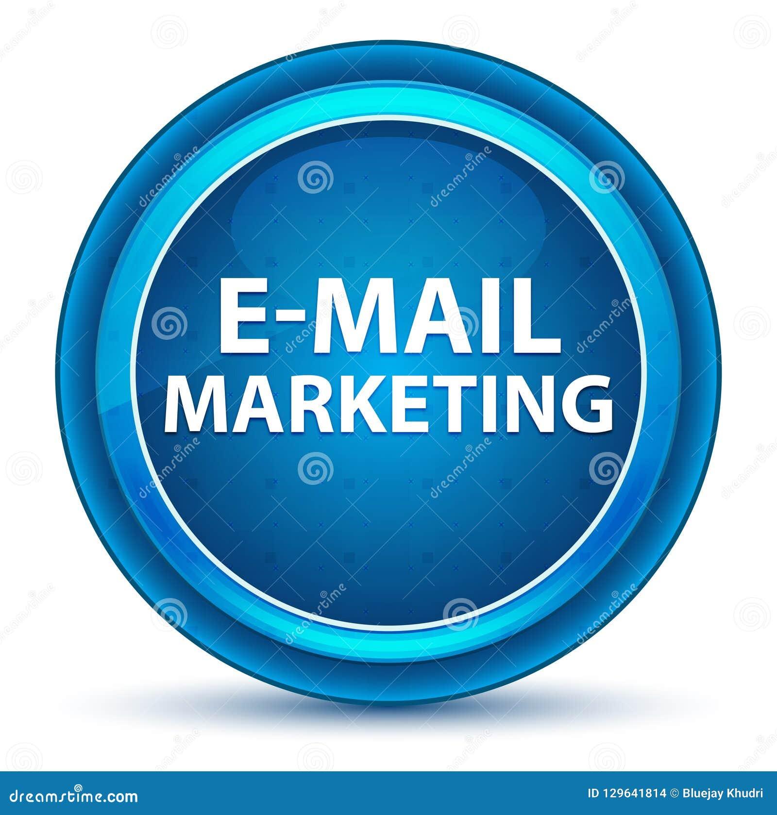 Μπλε στρογγυλό κουμπί βολβών του ματιού μάρκετινγκ ηλεκτρονικού ταχυδρομείου