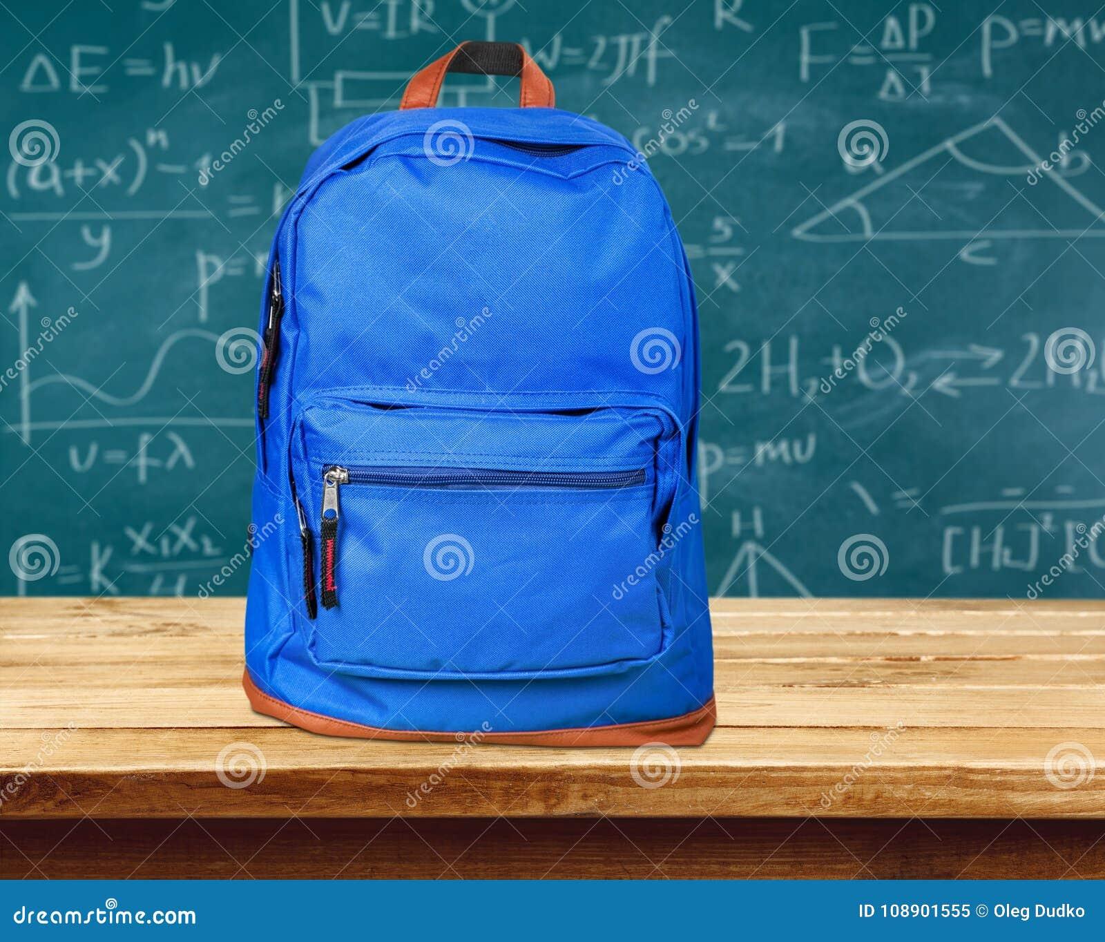 4b448438b9 Μπλε λευκό χρώματος σχολικών σακιδίων πλάτης πακέτων πίσω. Περισσότερες  παρόμοιες στοκ εικόνες