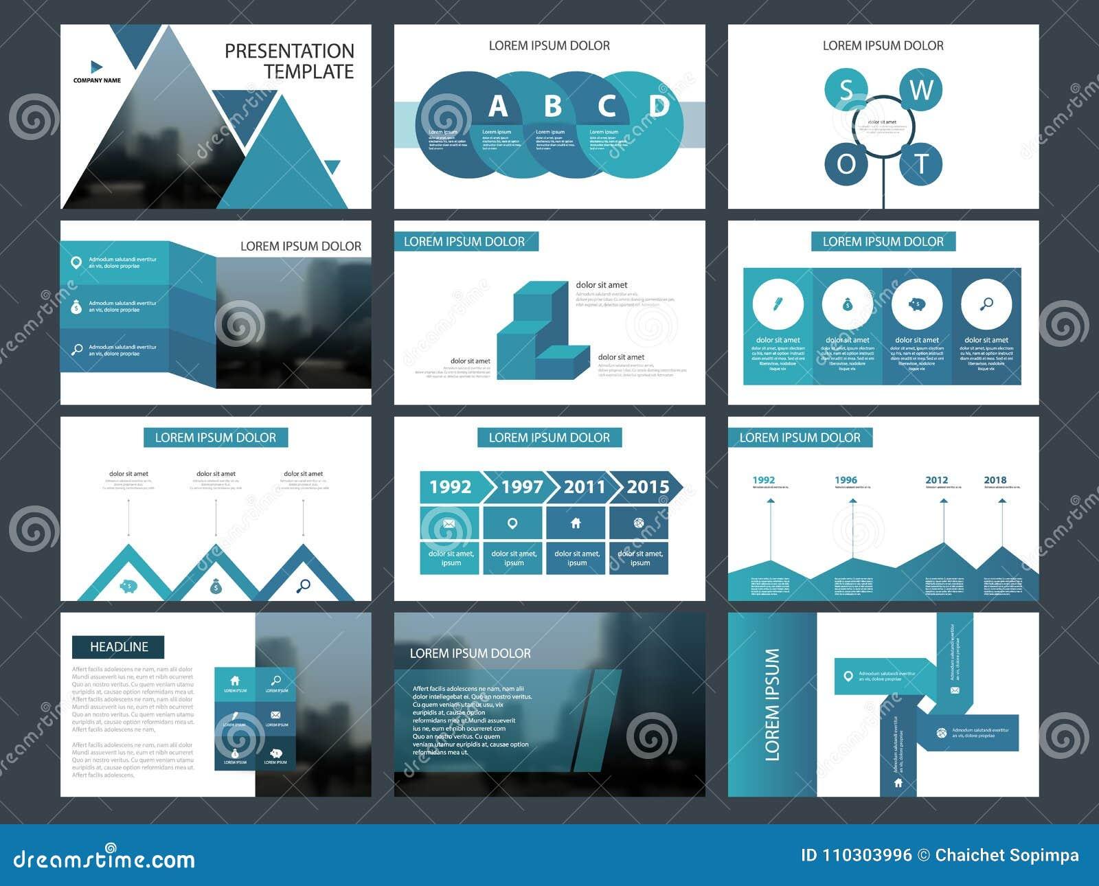 Μπλε τριγώνων πρότυπο παρουσίασης στοιχείων δεσμών infographic επιχειρησιακή ετήσια έκθεση, φυλλάδιο, φυλλάδιο, ιπτάμενο διαφήμισ