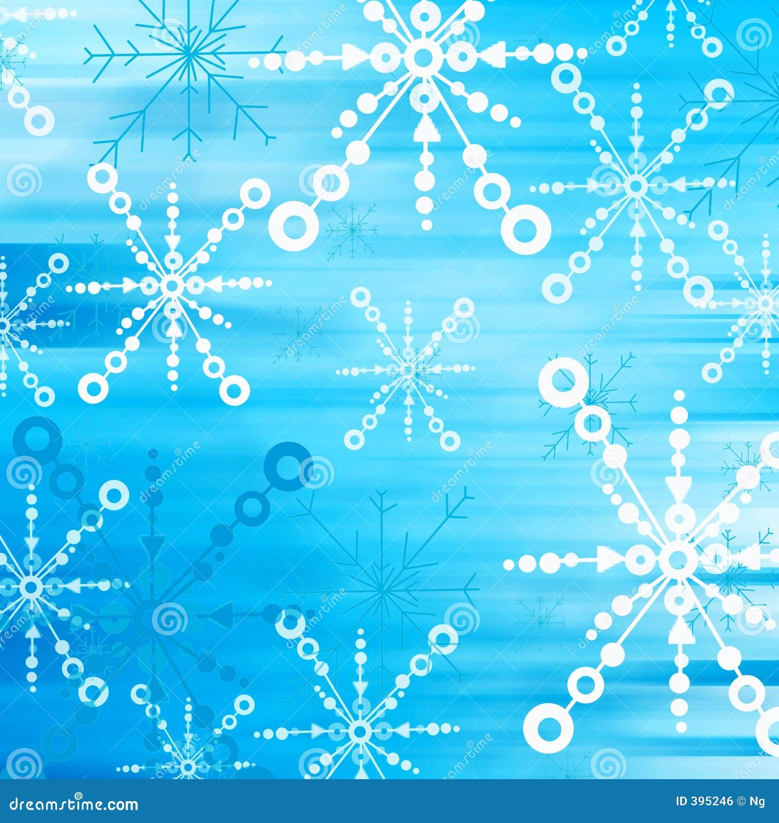μπλε χιόνι νιφάδων