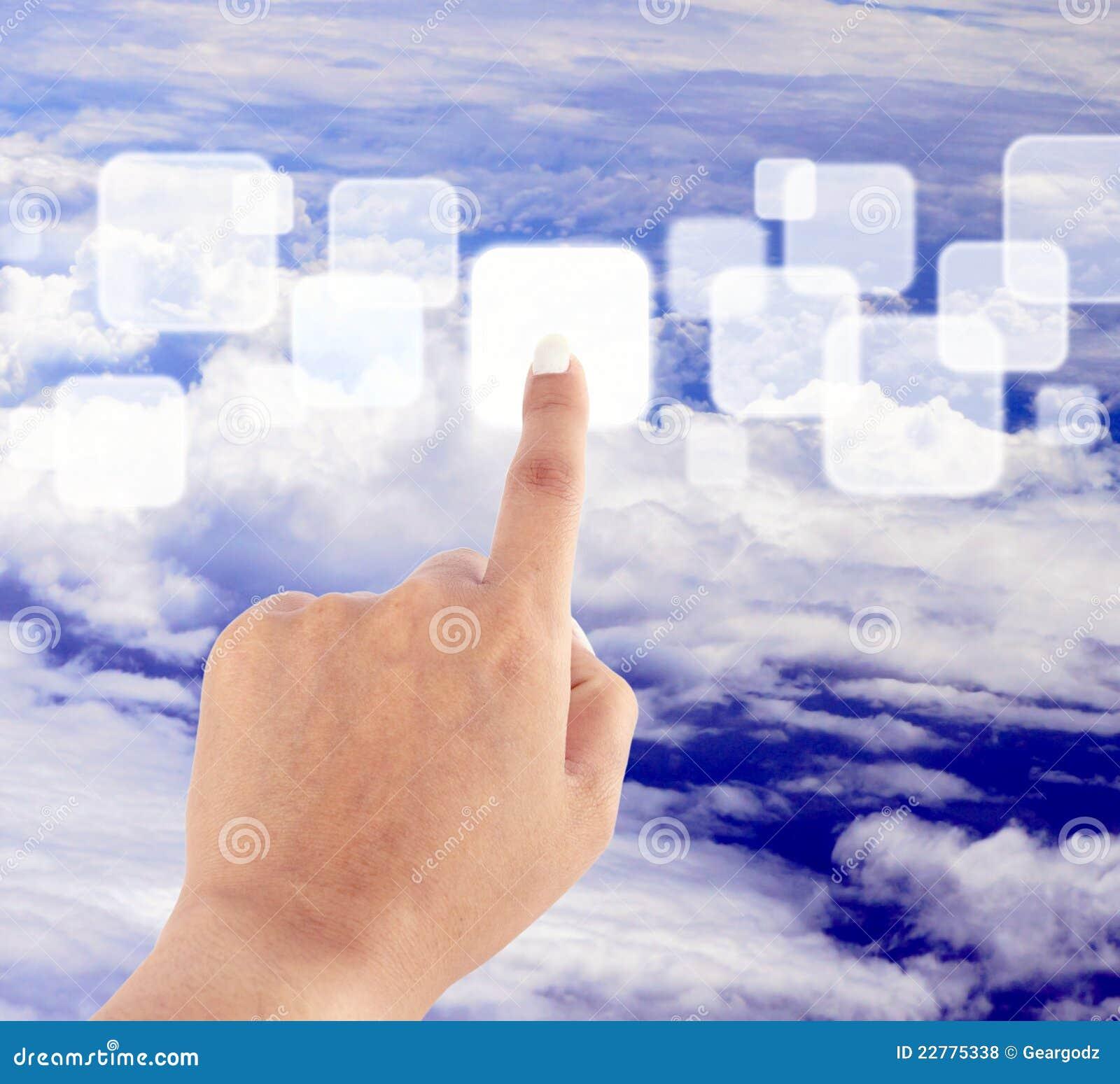 μπλε ωθώντας ουρανός χερ&