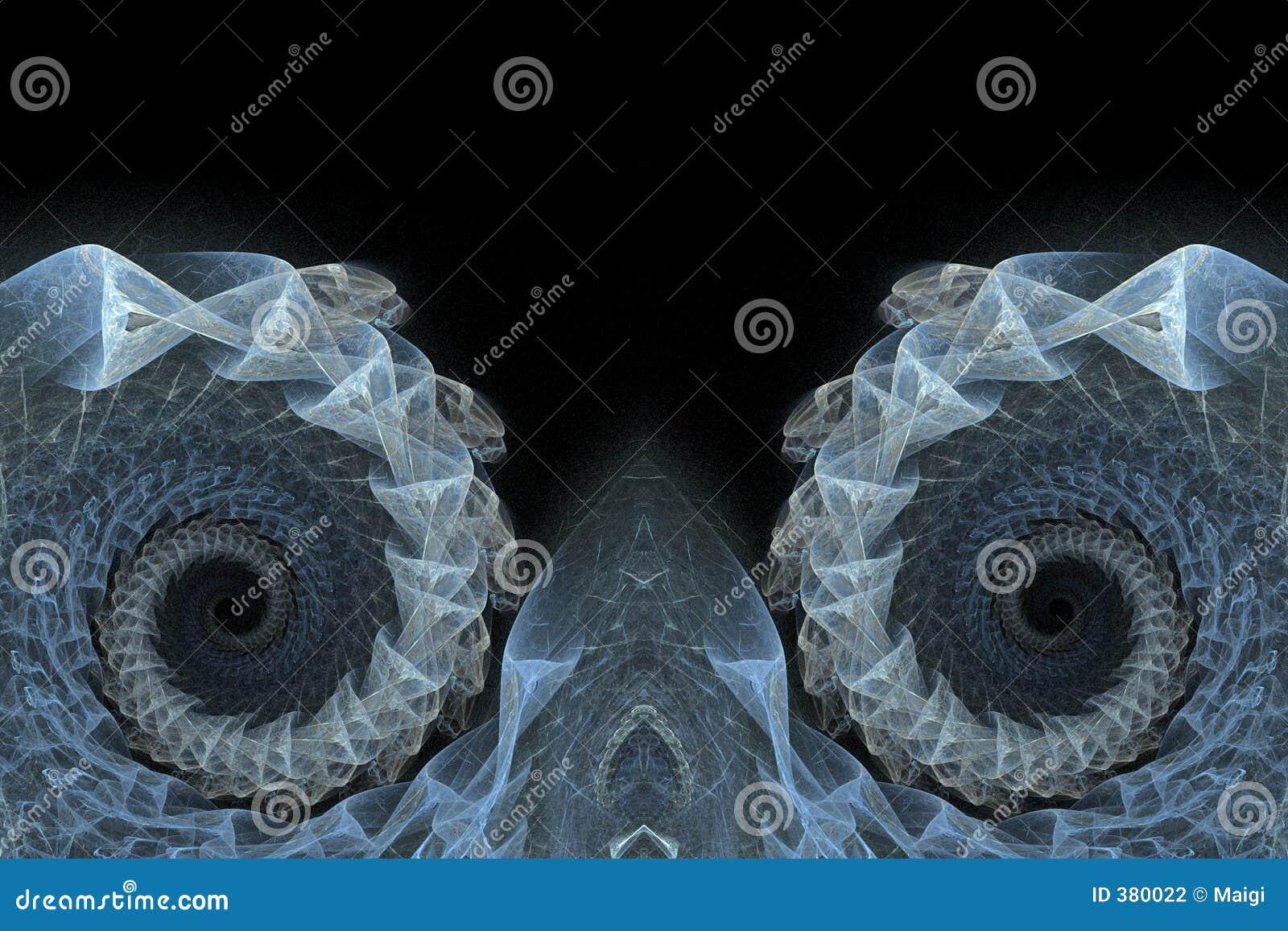 μπλε fractals ανασκόπησης σπείρα