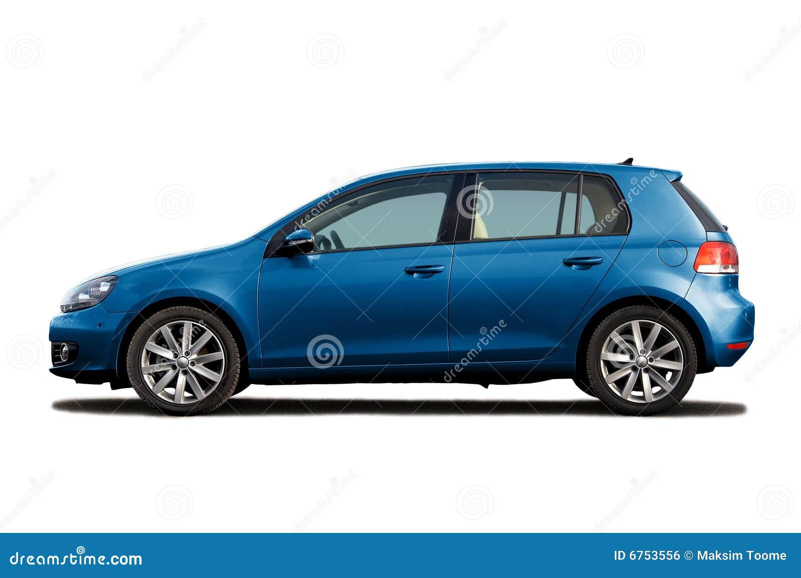 μπλε hatchback