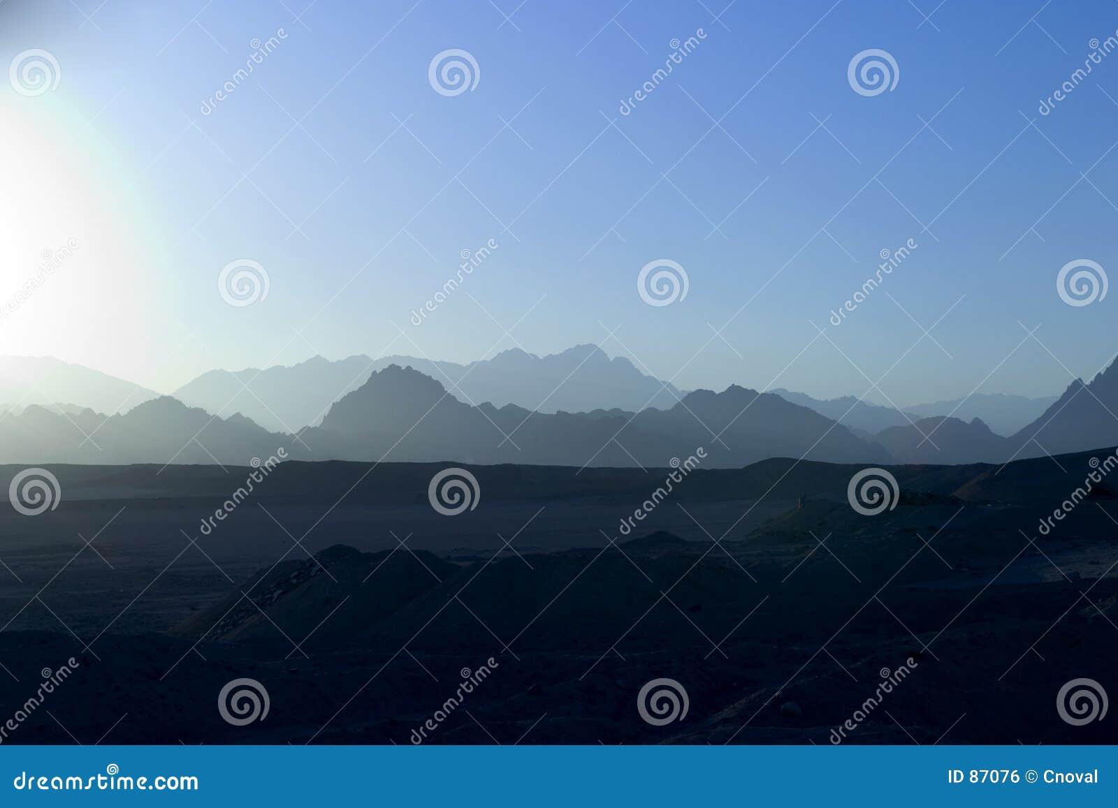 μπλε sinai βουνών ηλιοβασίλεμα