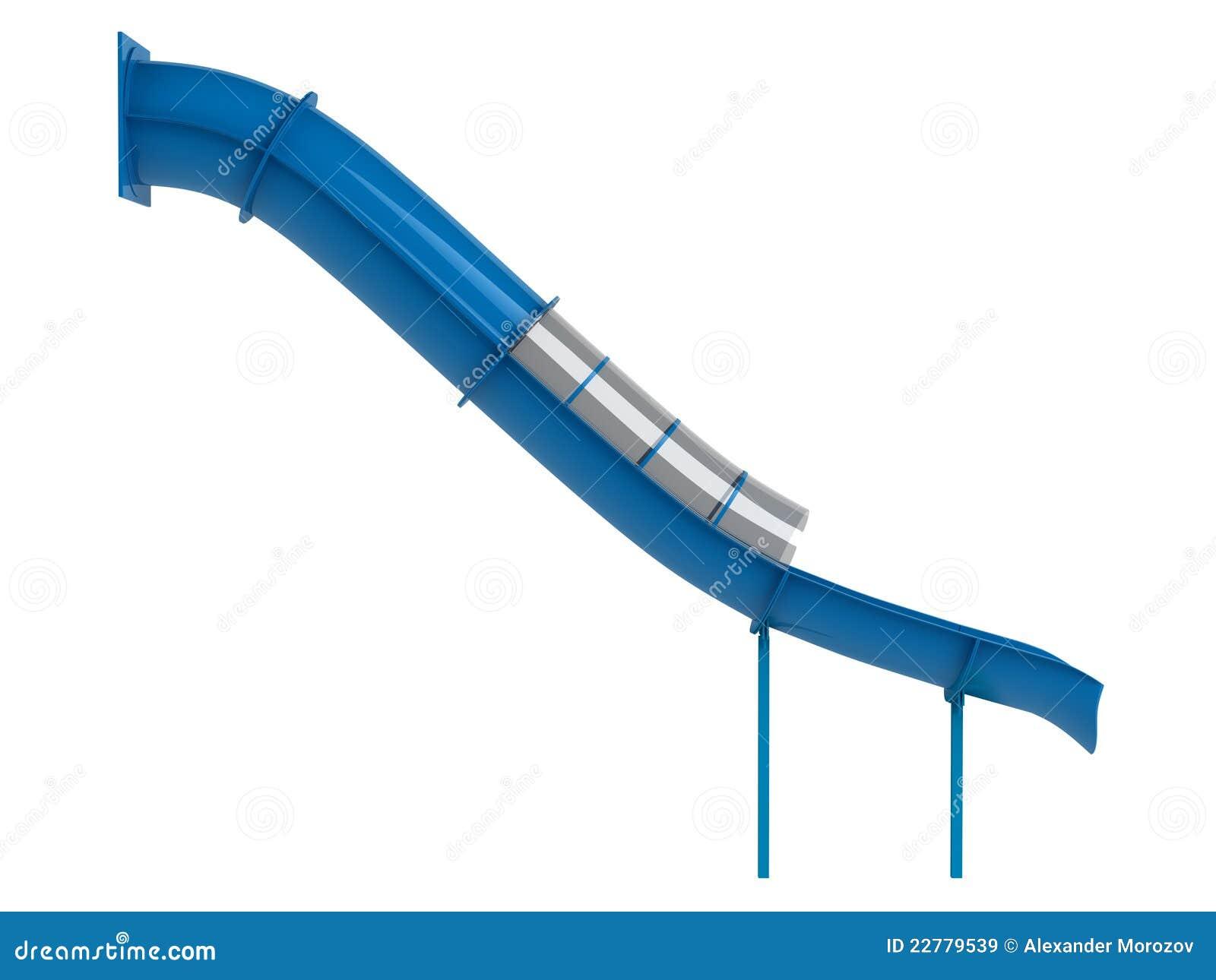 μπλε waterslide