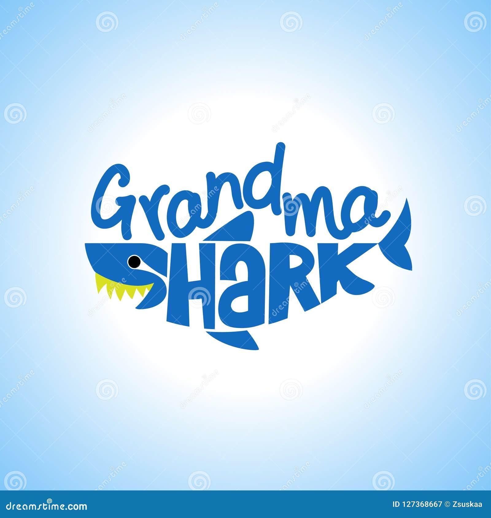 Μπλούζες Doo Doo Doo καρχαριών Grandma, Hoodie, δεξαμενή