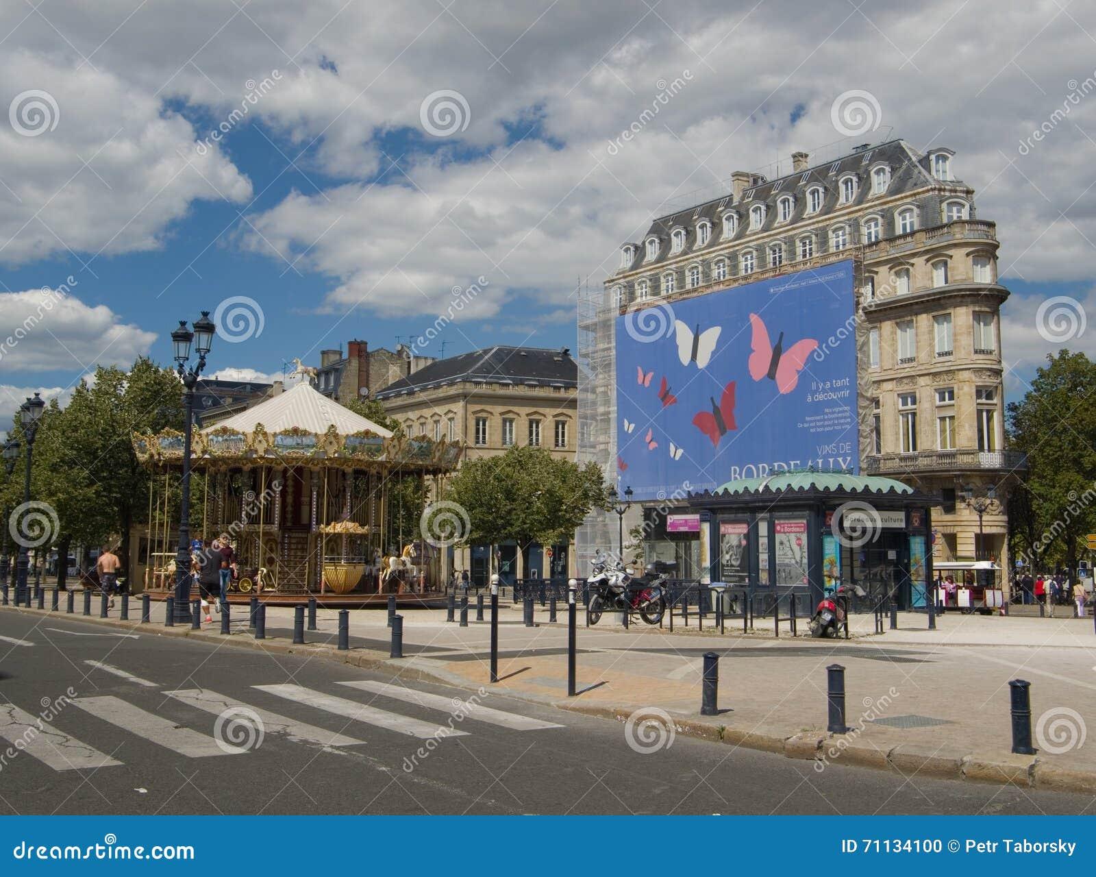 ΜΠΟΡΝΤΩ, ΓΑΛΛΙΑ - 6 ΣΕΠΤΕΜΒΡΊΟΥ 2015: Εκλεκτής ποιότητας ιπποδρόμιο σε Allï ¿ ½ ES de Tourny, Μπορντώ, Aquitaine, Γαλλία, το Σεπτ