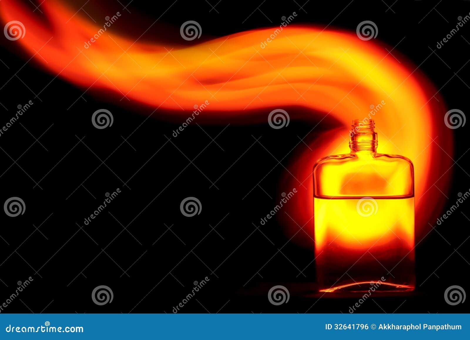 Μπουκάλι με τη φλόγα