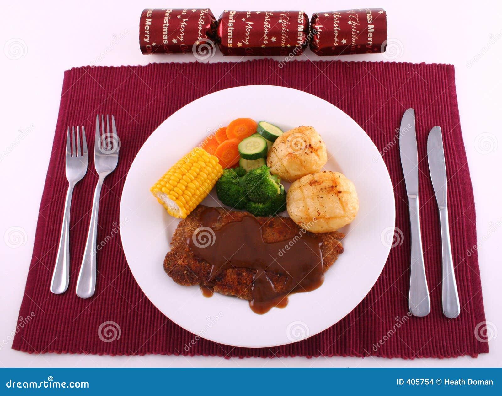 μπριζόλα γευμάτων Χριστο&ups