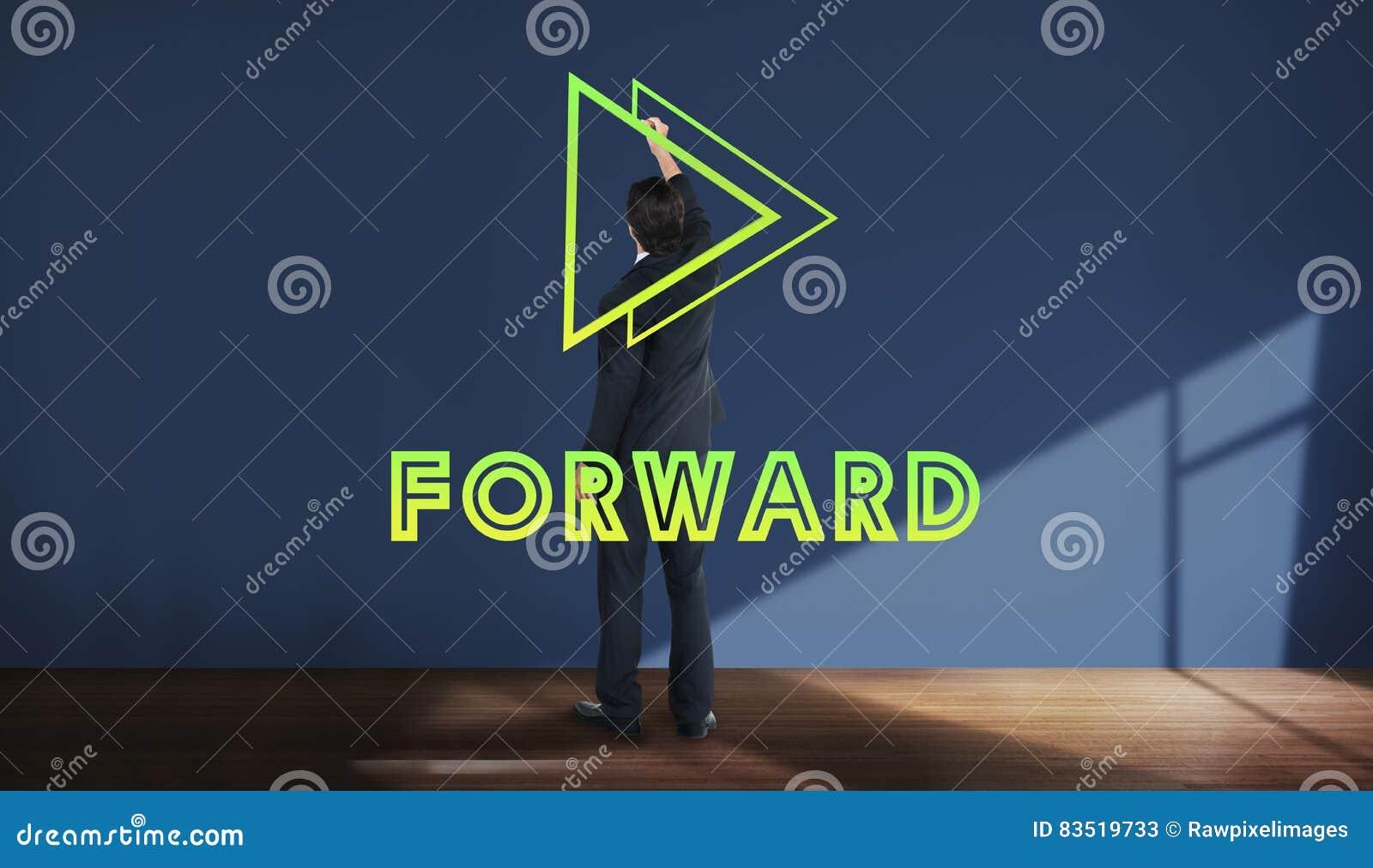 Μπροστινή έννοια αποστολής επιτυχίας θετικής σκέψης στόχου στόχων