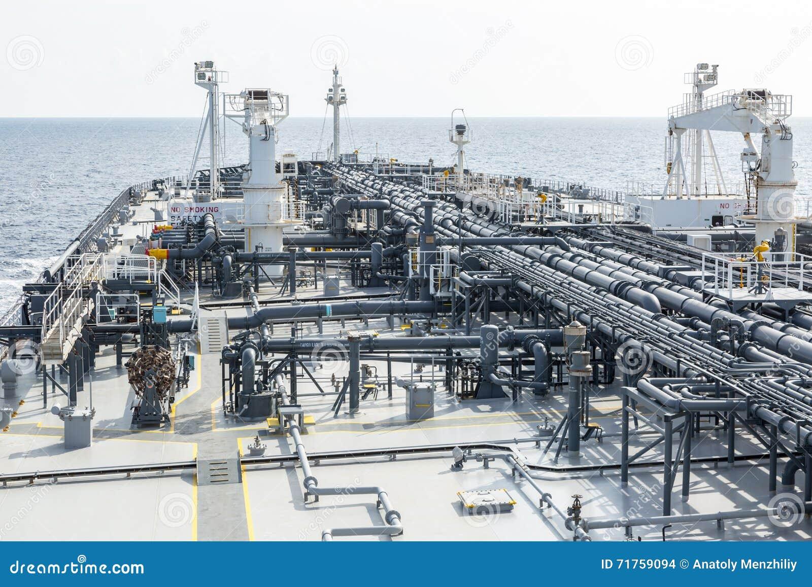 Μπροστινό μέρος του βυτιοφόρου αργού πετρελαίου