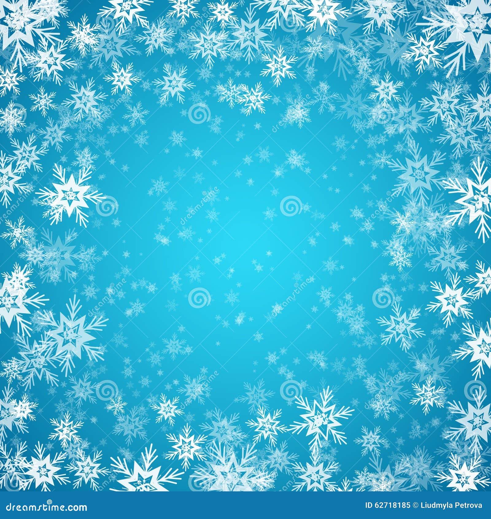 Μπλε ανασκόπηση με snowflakes διάνυσμα