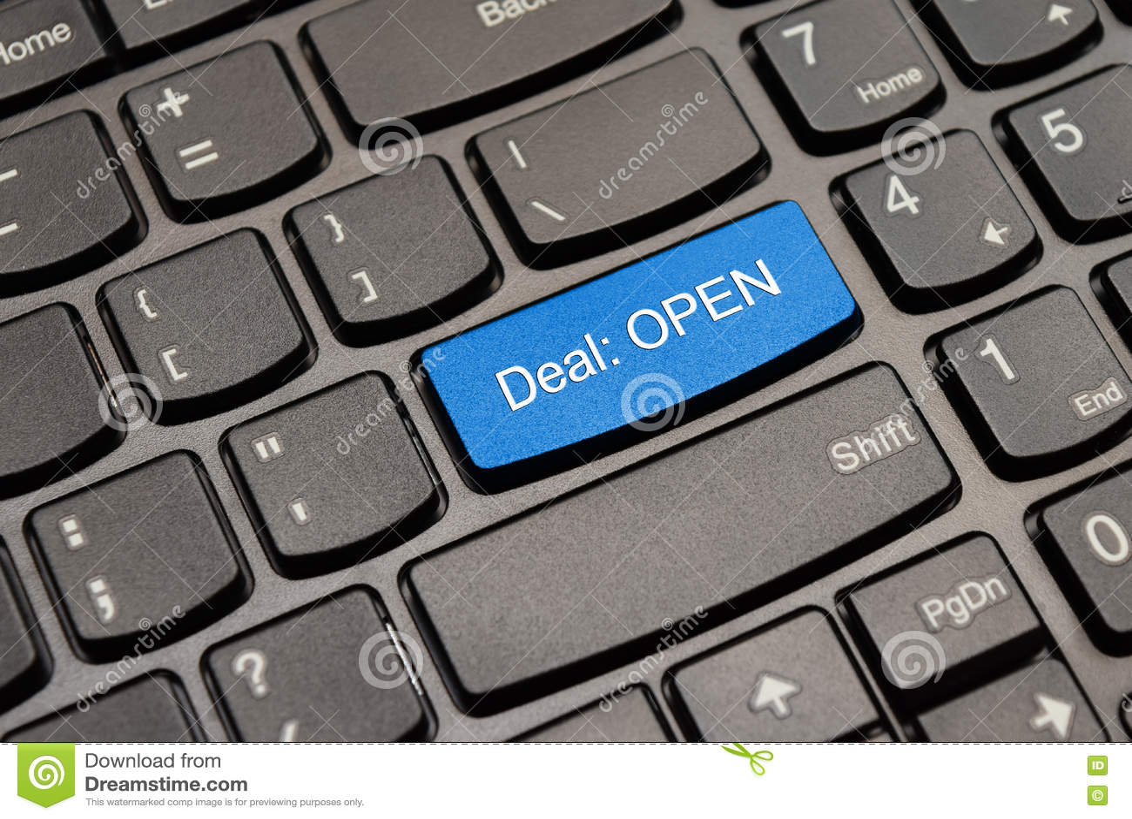 Μπλε ανοικτό κουμπί πληκτρολογίων διαπραγμάτευσης