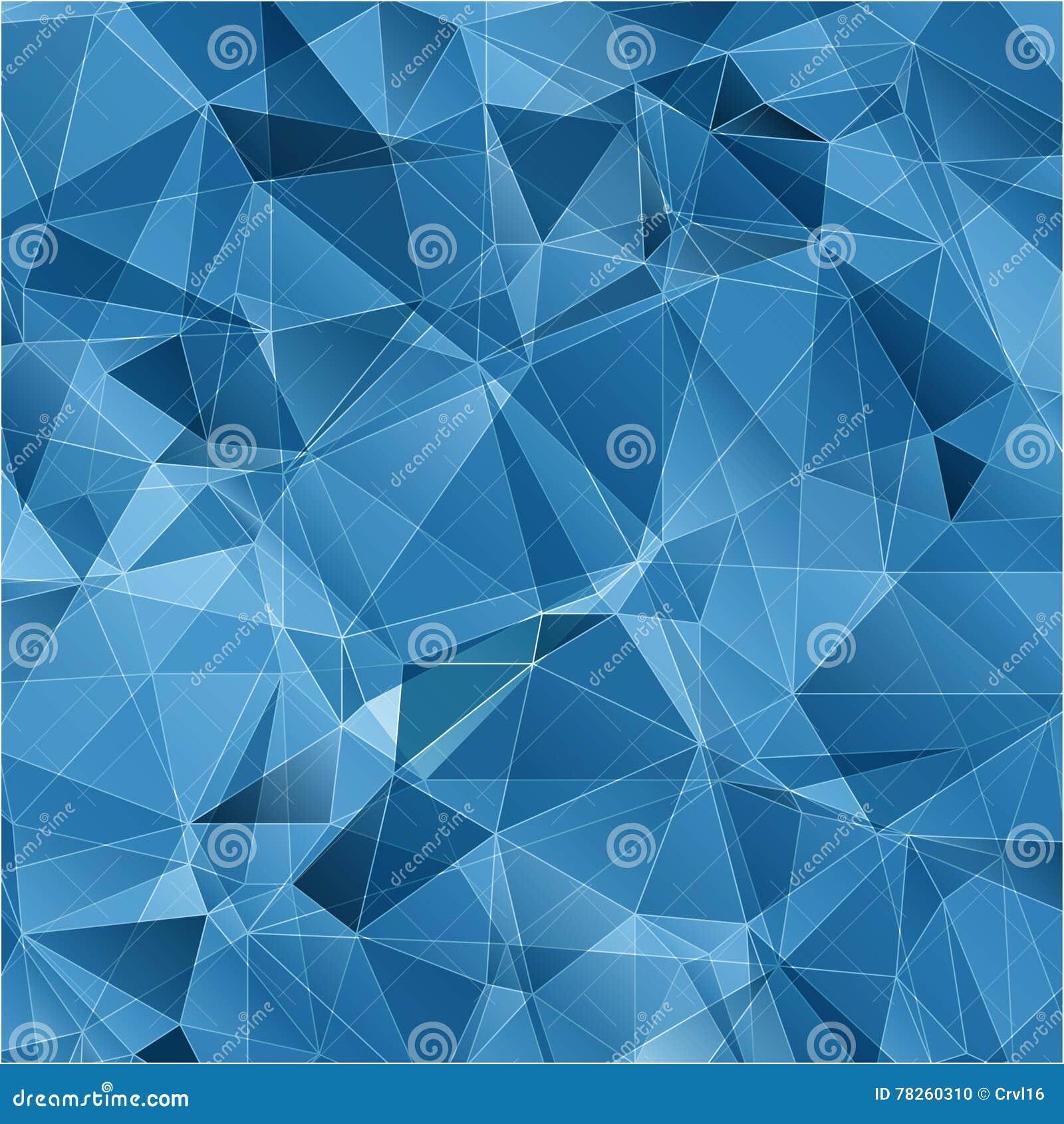 Μπλε αφηρημένο υπόβαθρο τριγώνων