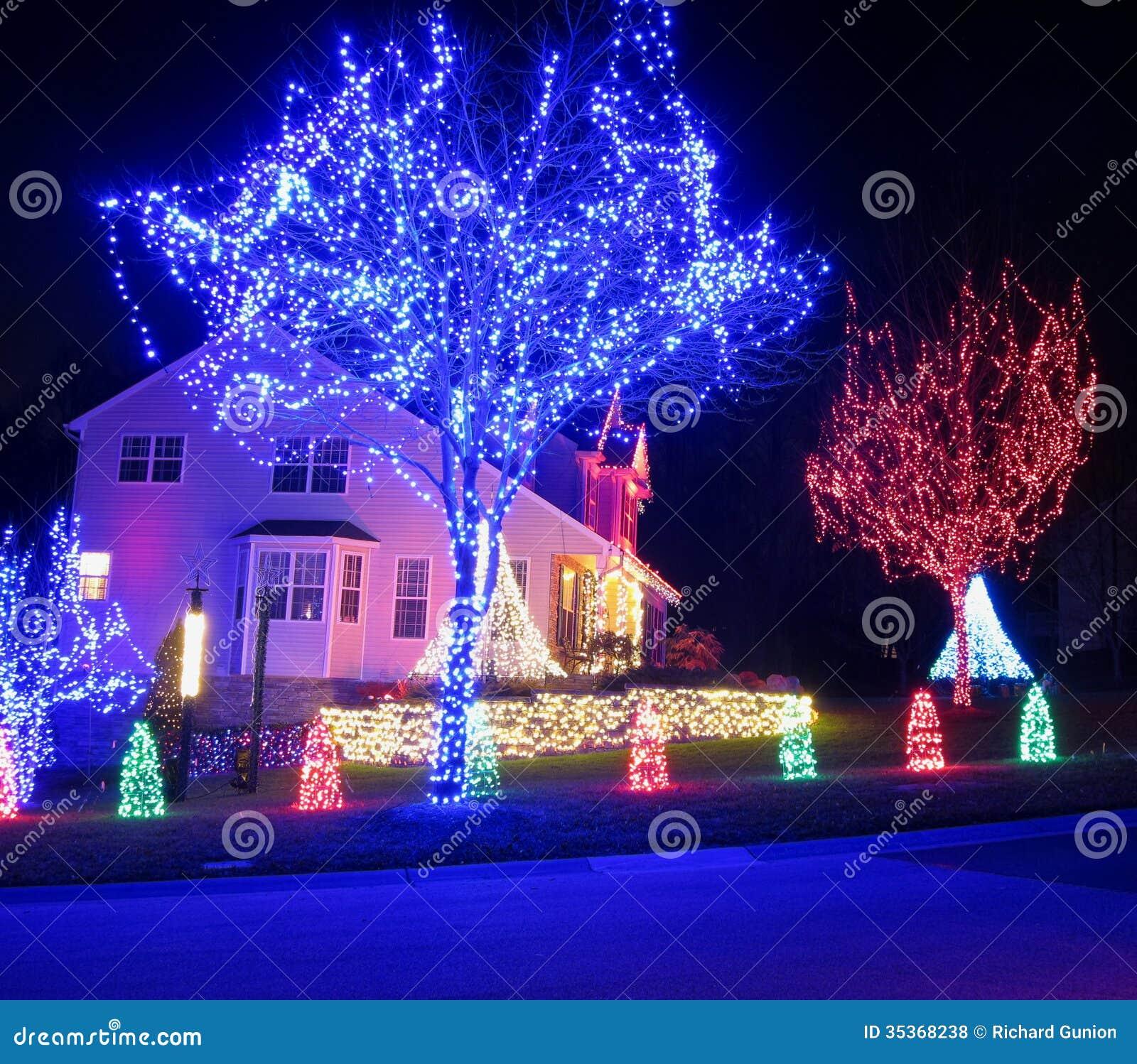Μπλε και κόκκινα Χριστούγεννα