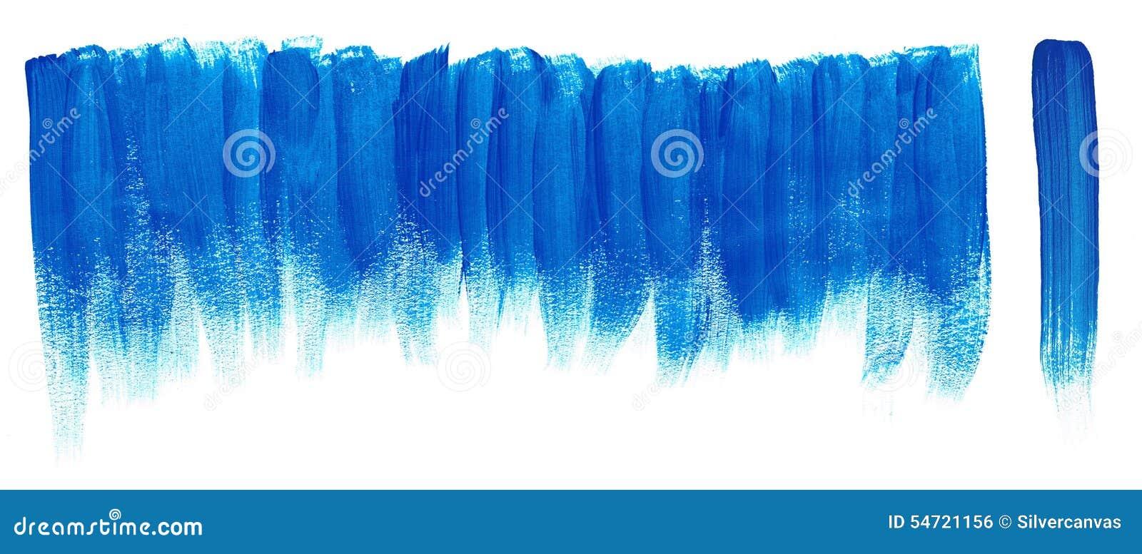 Μπλε κτυπήματα χρωμάτων βουρτσών