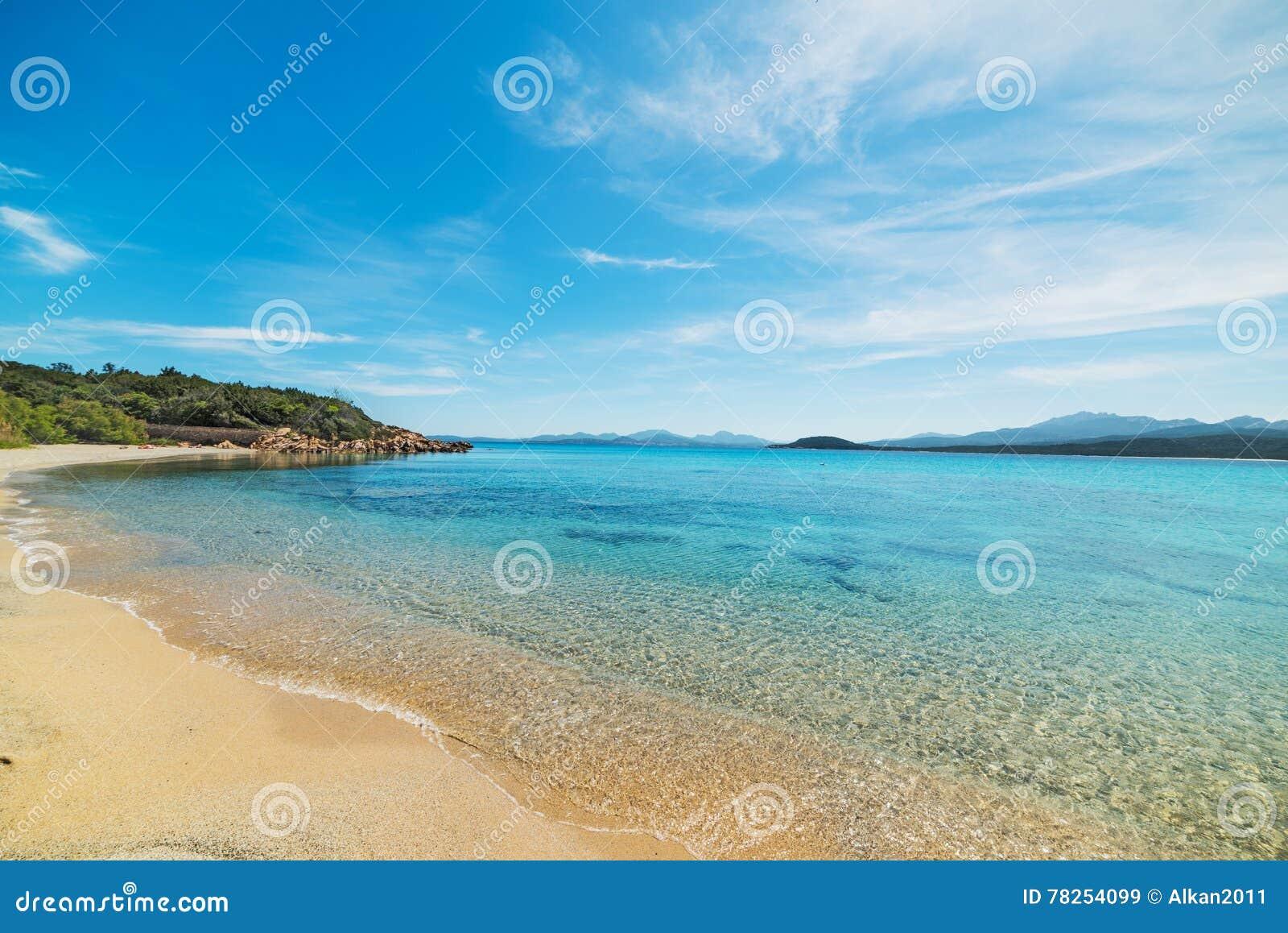 Μπλε ουρανός πέρα από την παραλία Λα Celvia