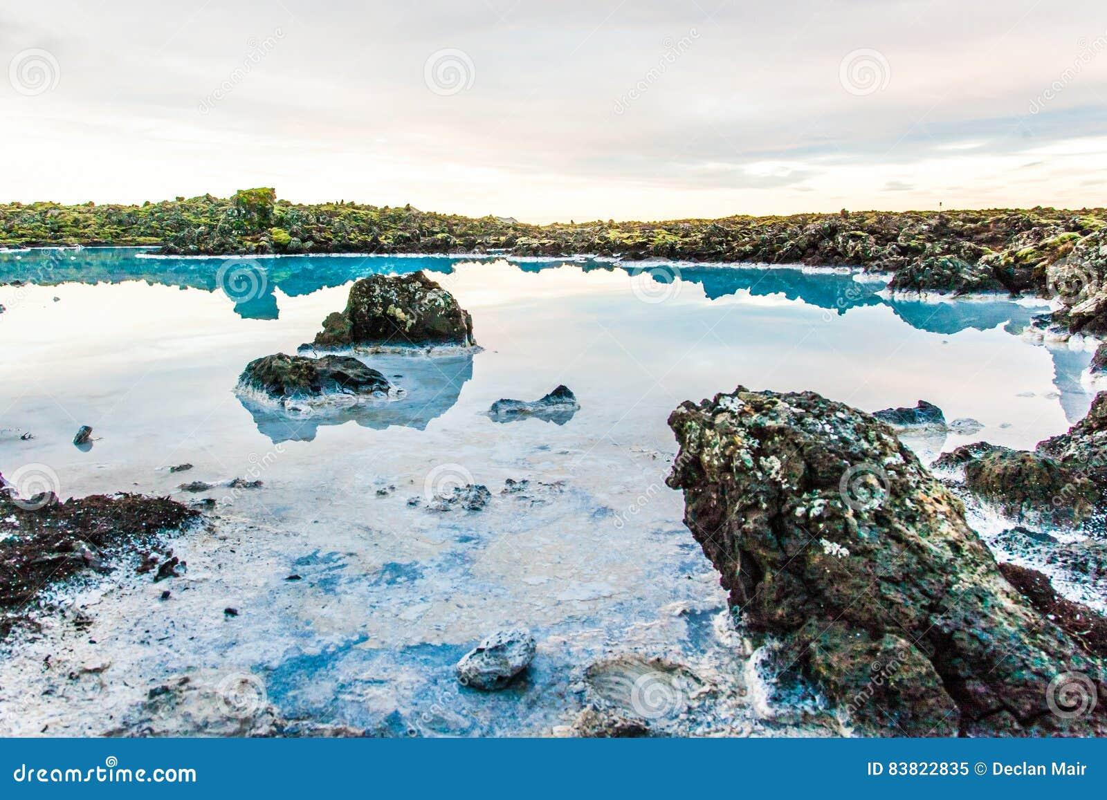 Μπλε περιοχή λιμνοθαλασσών κοντά στο Ρέικιαβικ, Ισλανδία