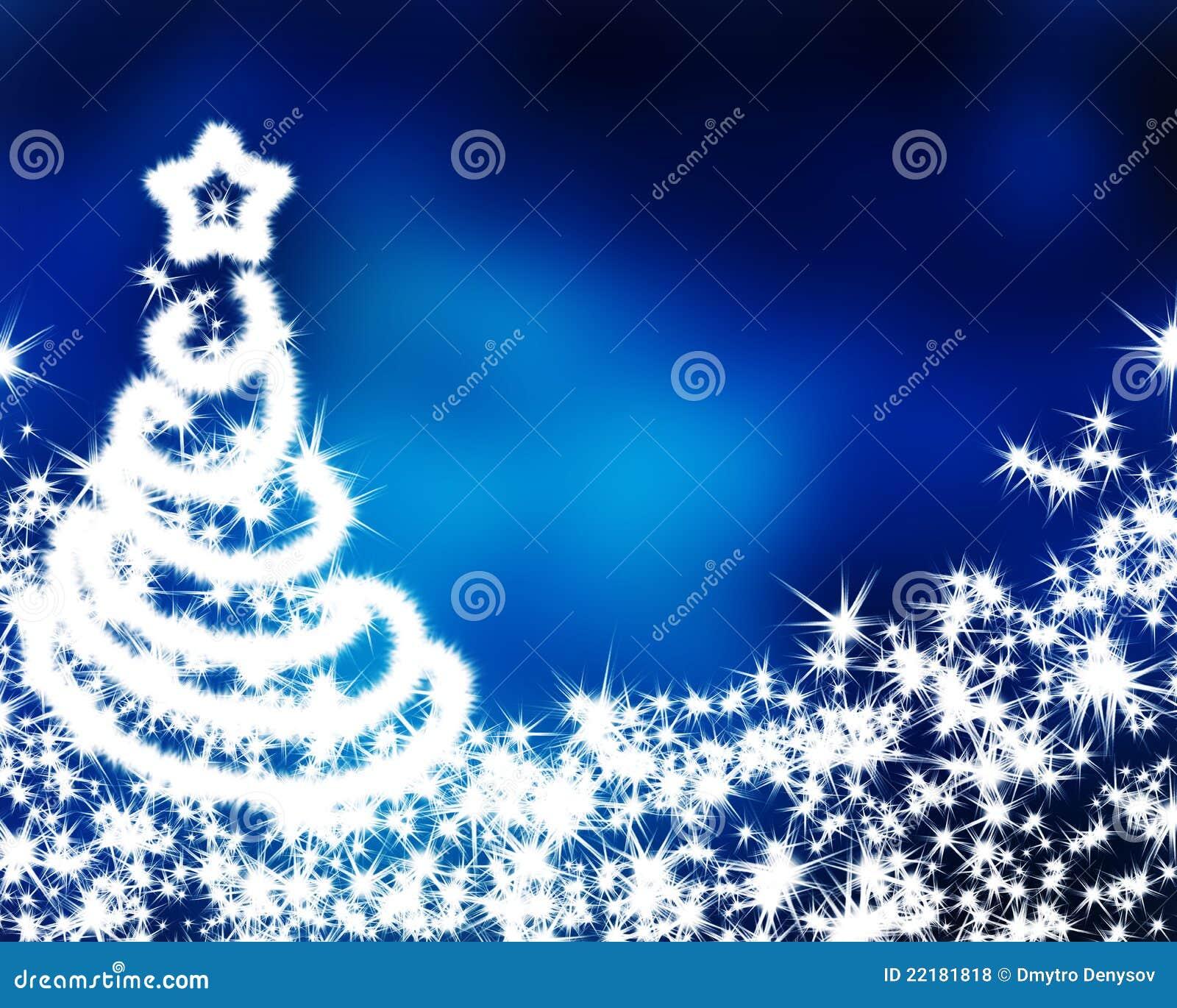 Μπλε υπόβαθρο Χριστουγέννων