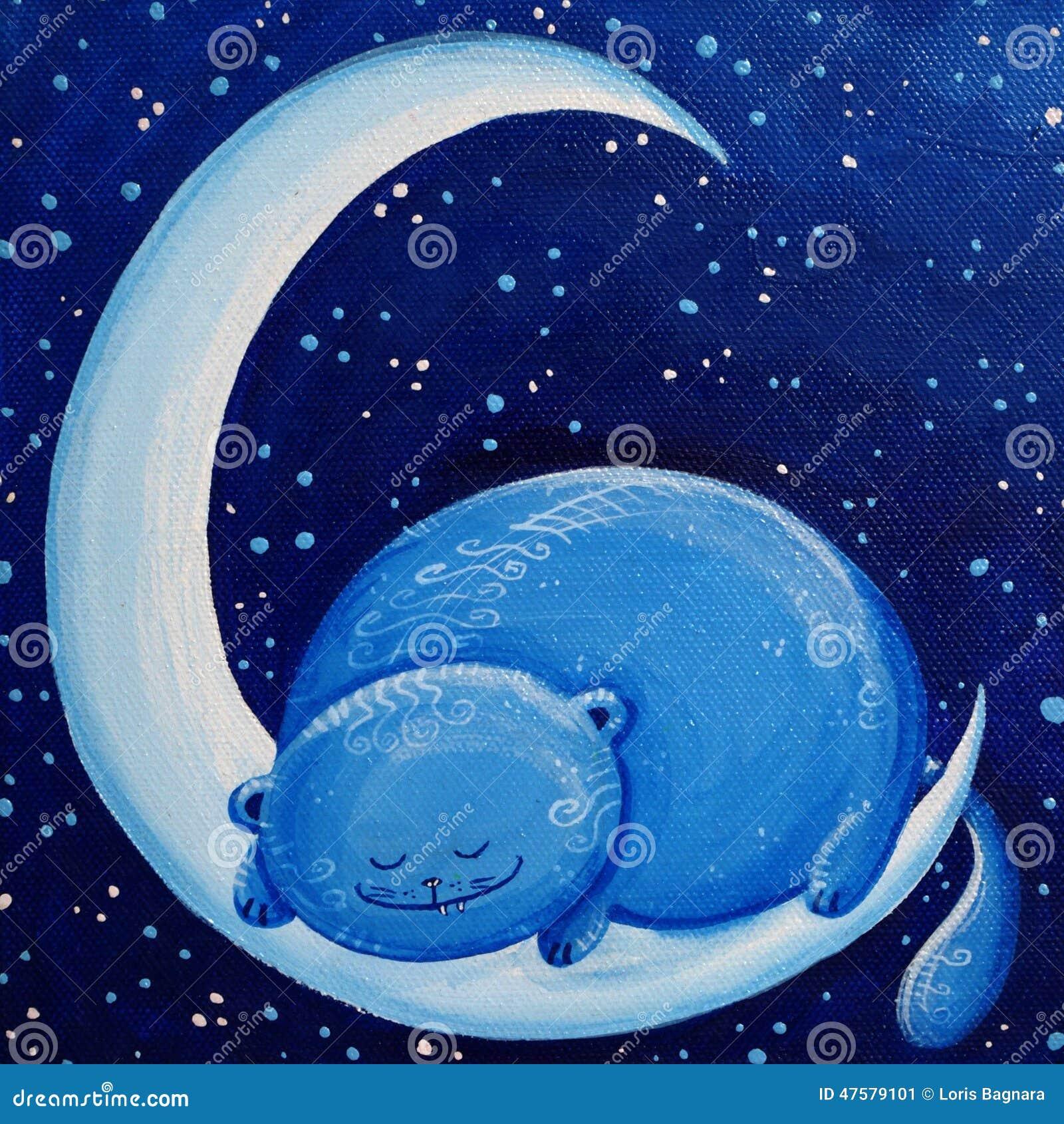 μπλε φεγγάρι γατών