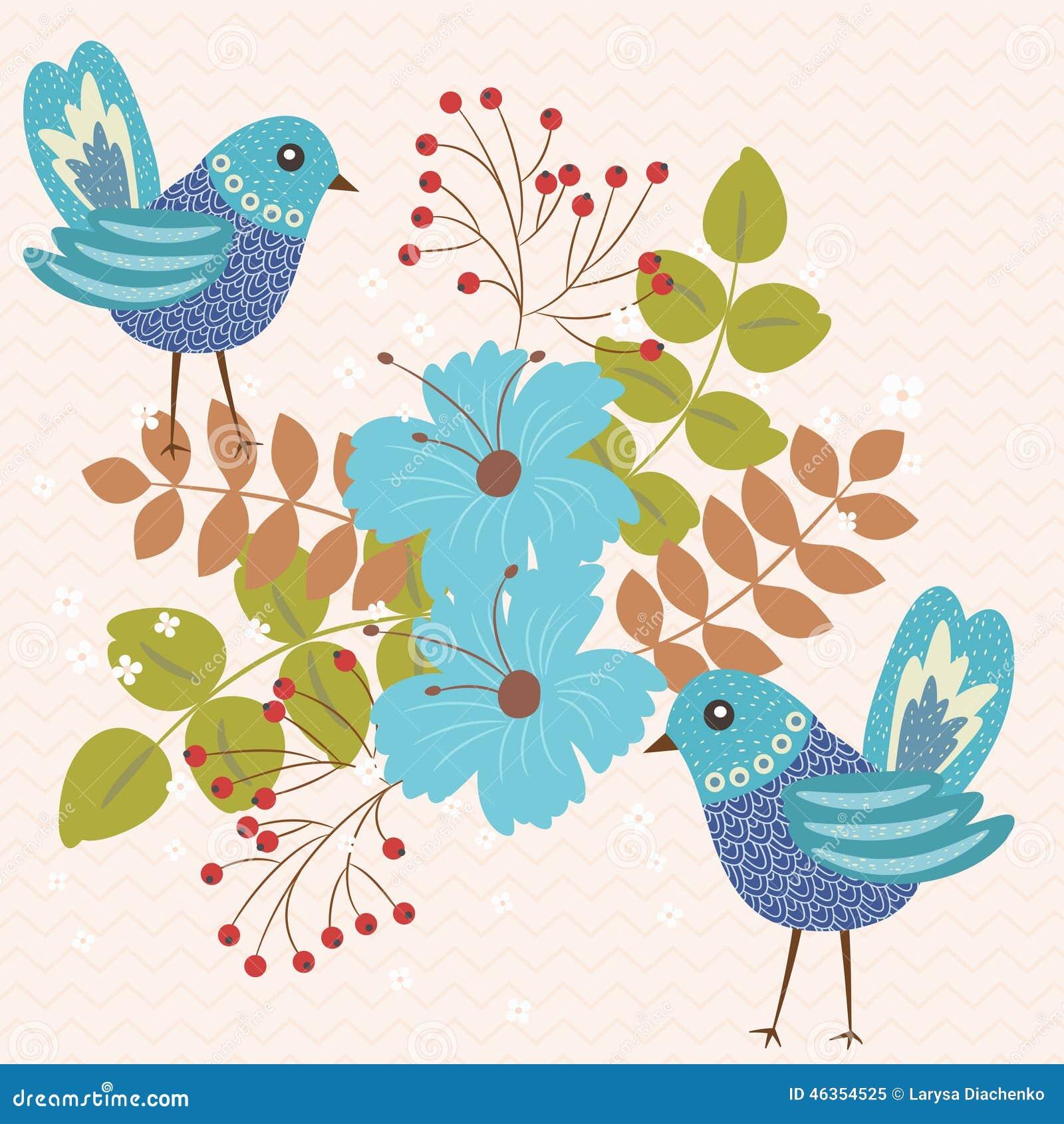 μπλε δύο πουλιών