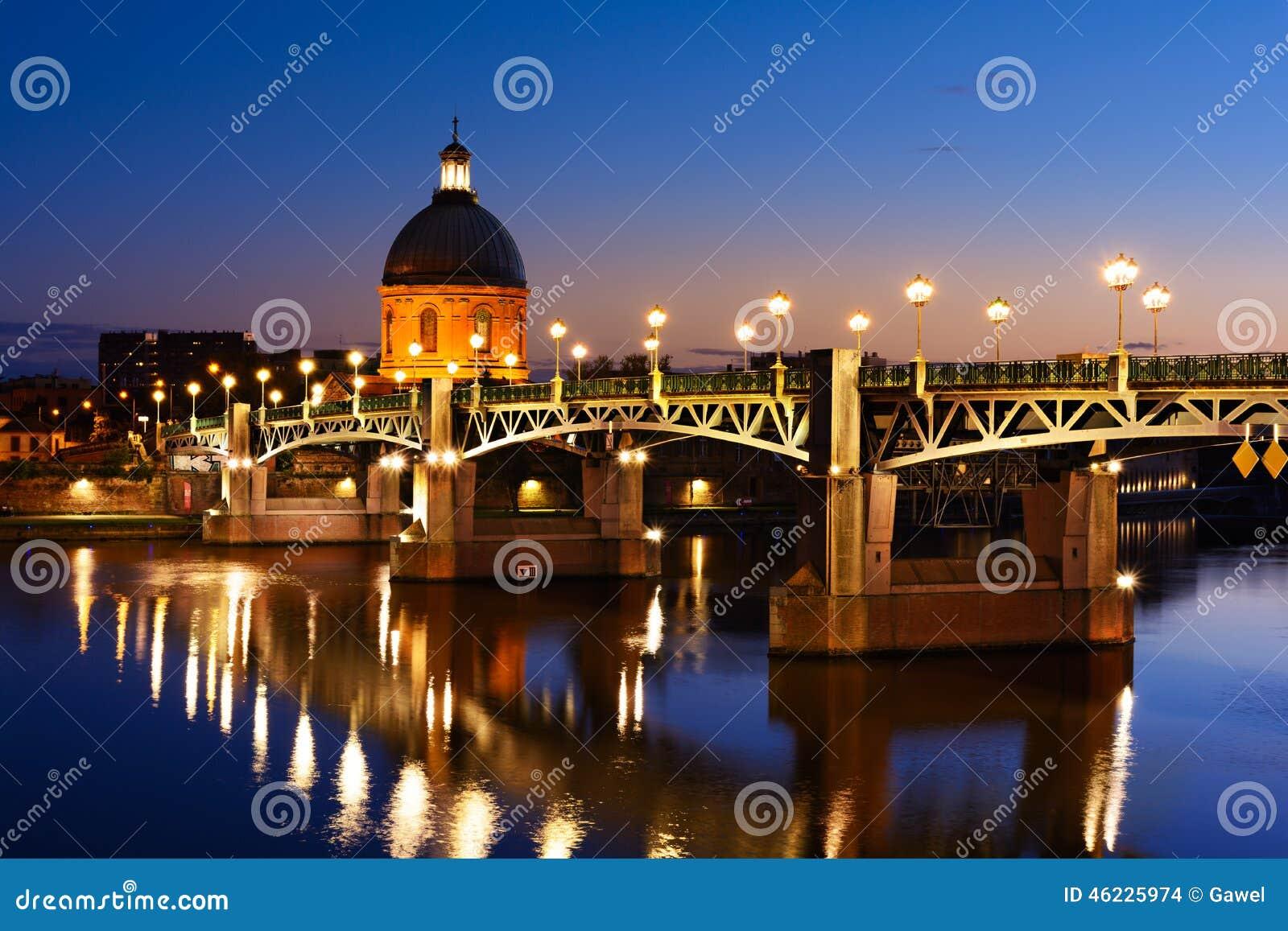 Μπλε ώρα στη γέφυρα της Τουλούζης, Τουλούζη, Γαλλία