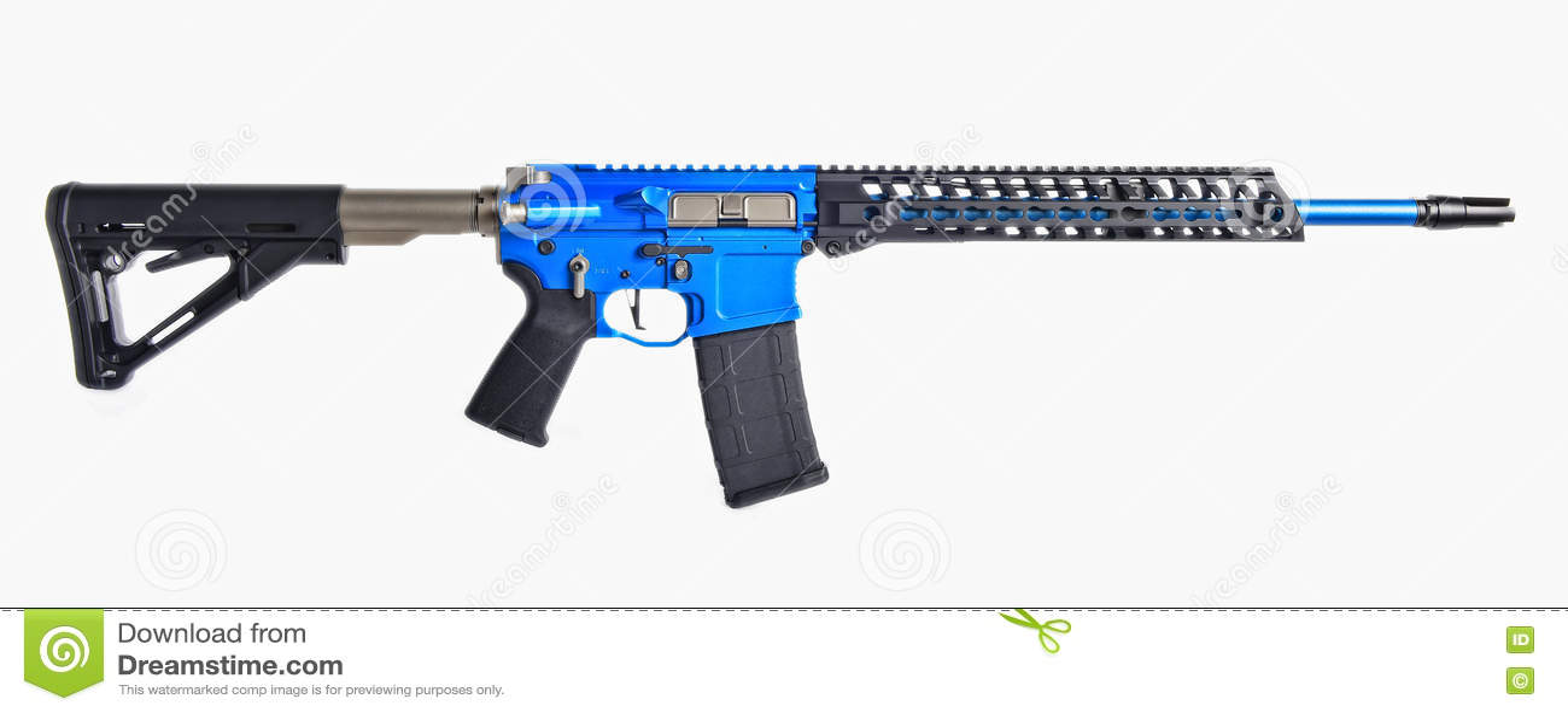 Μπλε AR15 τουφέκι