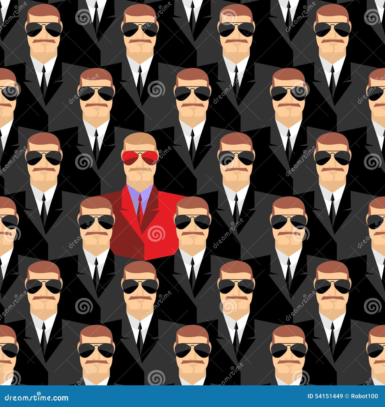 Μυστικοί πράκτορες Ένας κατάσκοπος μεταξύ των πρακτόρων Άνευ ραφής σχέδιο pepople
