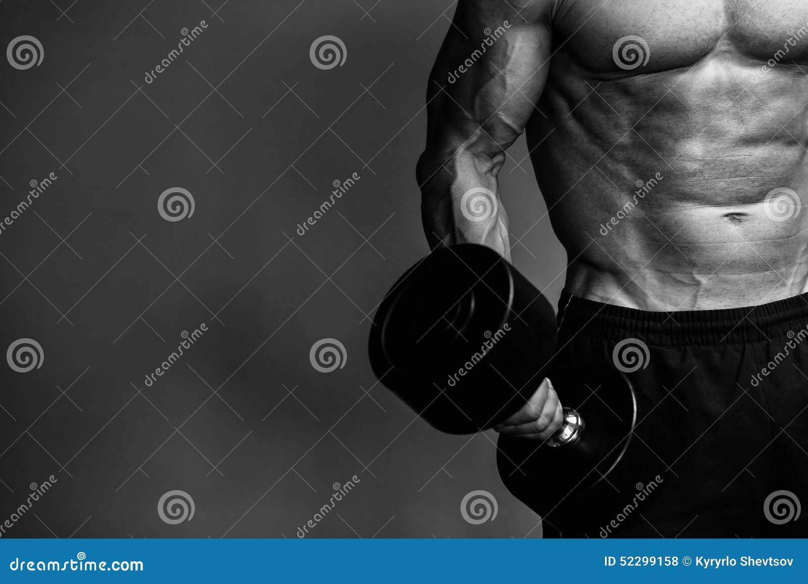 Μυϊκός στενός επάνω μονοχρωματικός τύπων bodybuilder