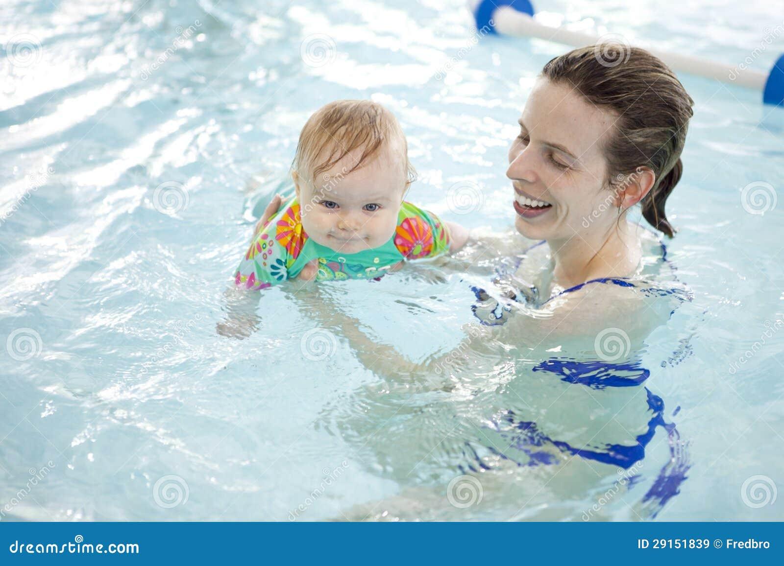 Μωρό και mom στη λίμνη