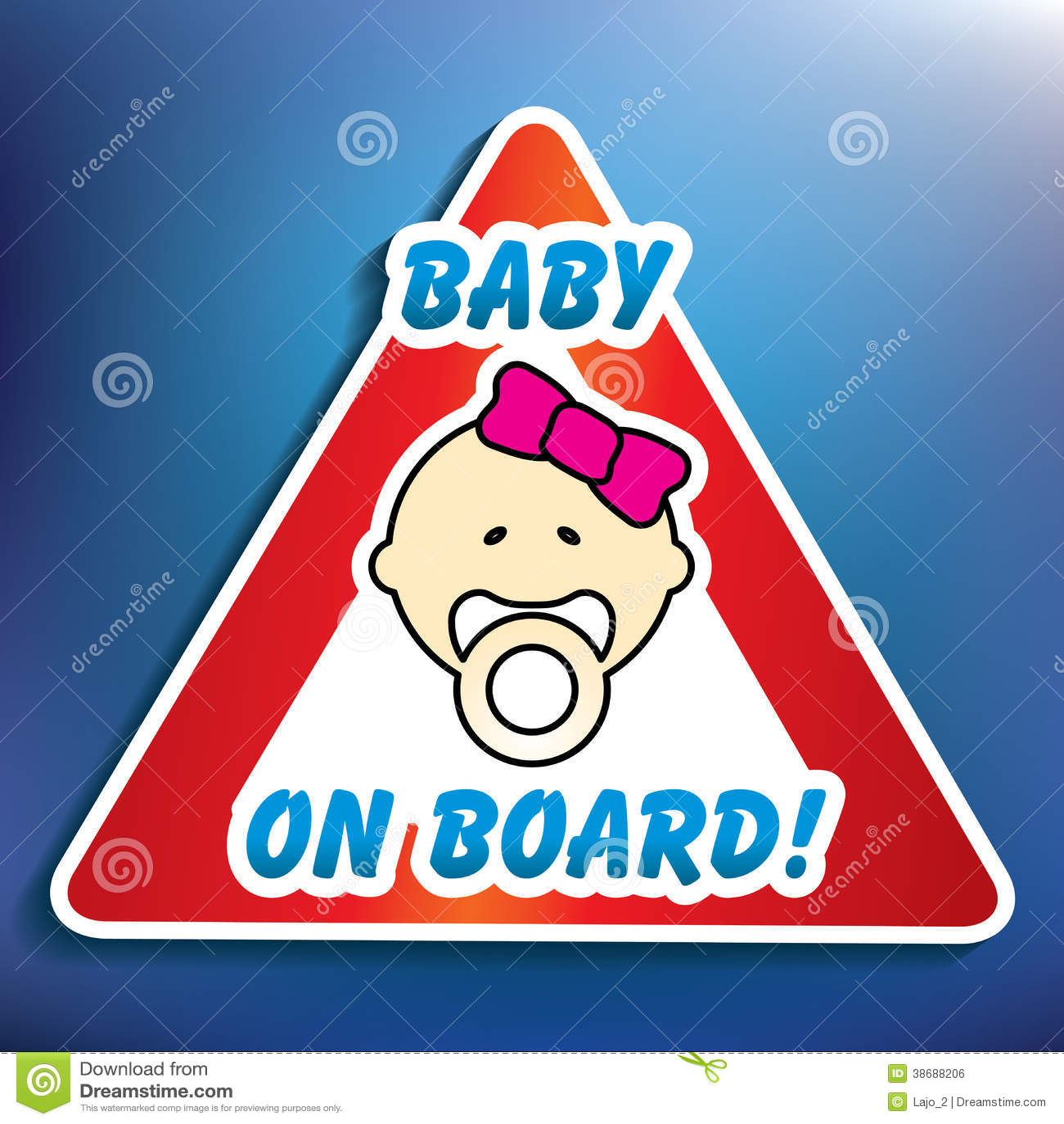 Μωρό στην αυτοκόλλητη ετικέττα