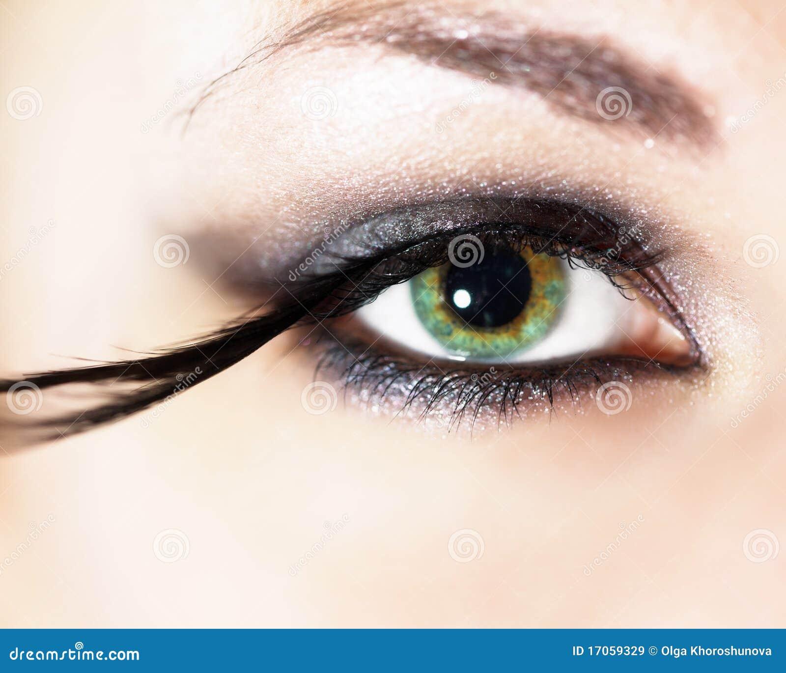 μόδα ματιών makeup