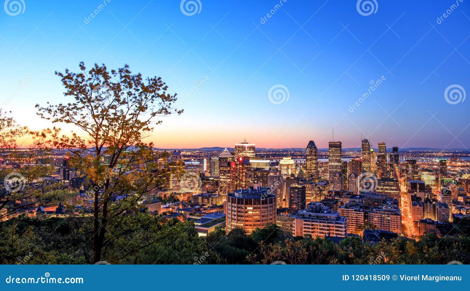 Μόντρεαλ, ΚΑΝΑΔΑΣ - 21 Μαΐου 2018 Άποψη ανατολής του Μόντρεαλ από Belve