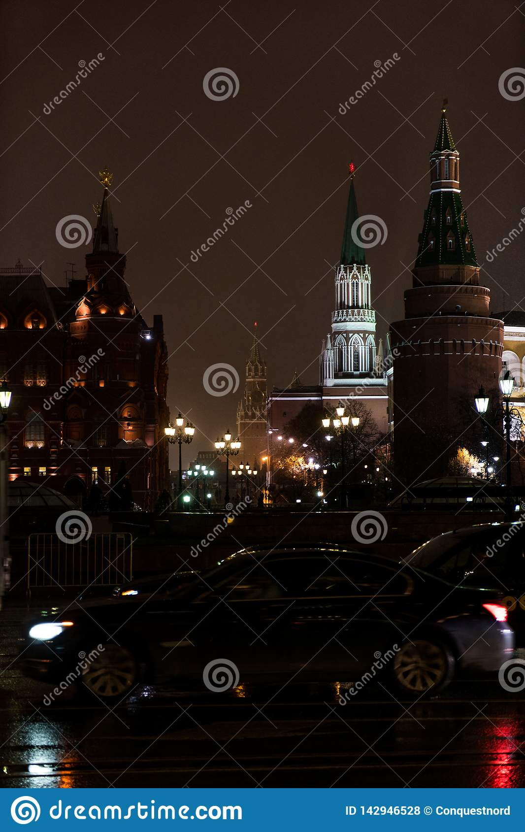 Μόσχα Κρεμλίνο το χειμερινό βράδυ