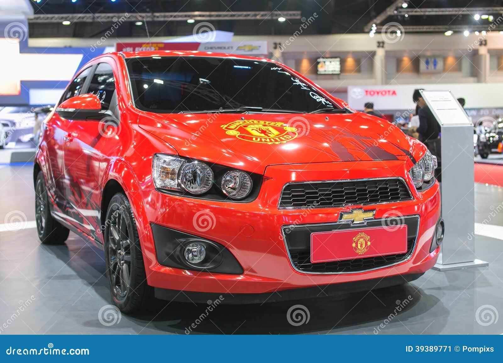 Νέα έκδοση του αυτοκινήτου της Manchester United Chevrolet στη διεθνή έκθεση αυτοκινήτου της 35ης Μπανγκόκ, ομορφιά έννοιας στο Dr
