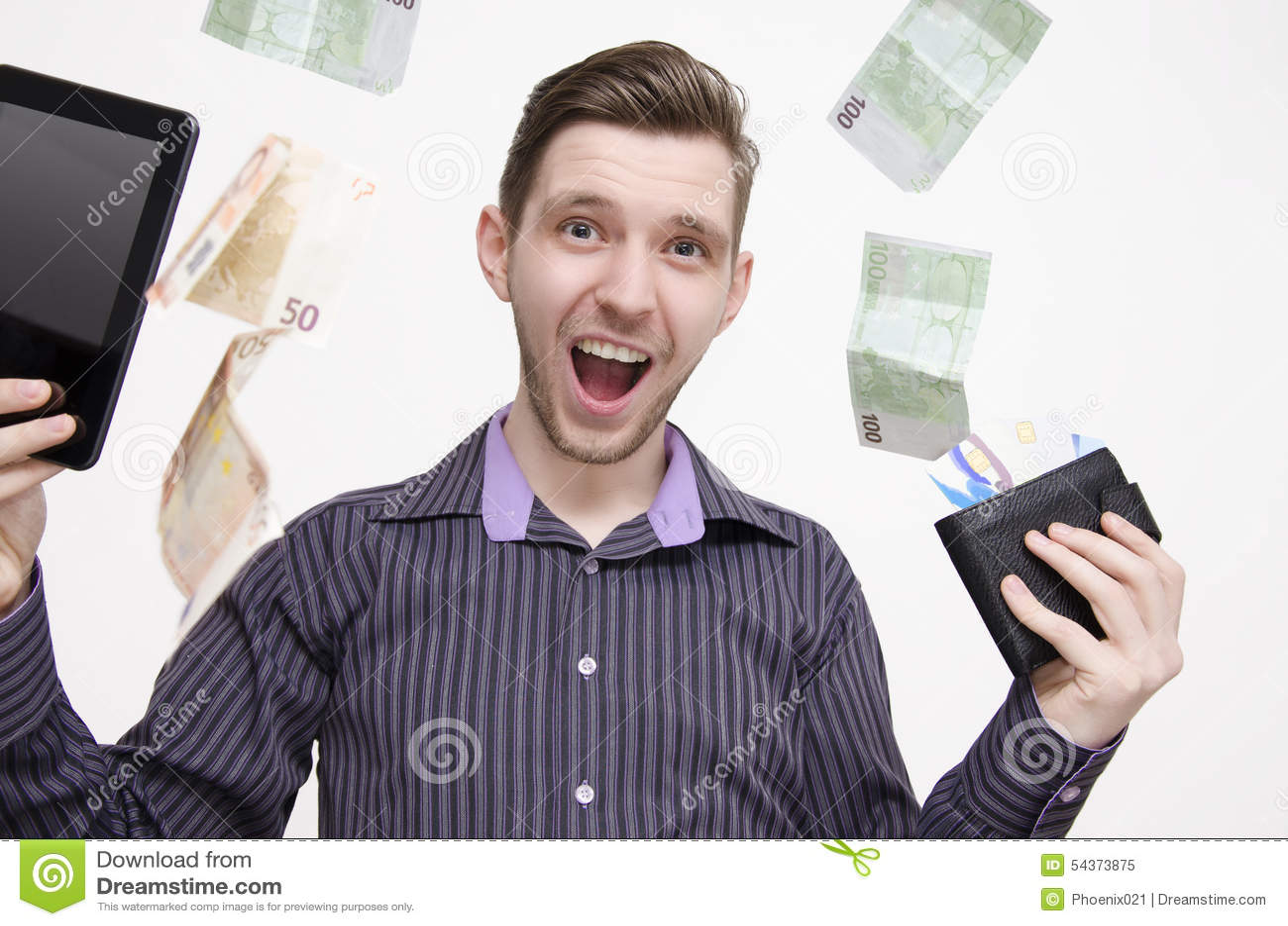 Νέα ενήλικη ταμπλέτα εκμετάλλευσης ατόμων και πιστωτικές κάρτες, ενώ τα χρήματα (ευρώ) πέφτουν από τον αέρα