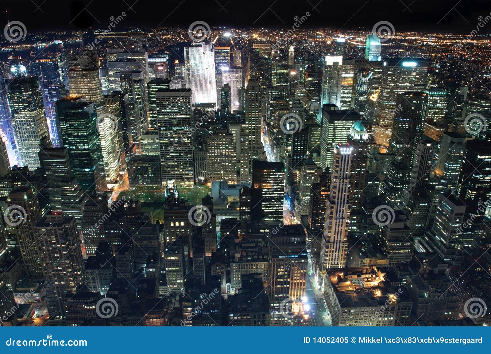 νέα νύχτα Υόρκη πόλεων