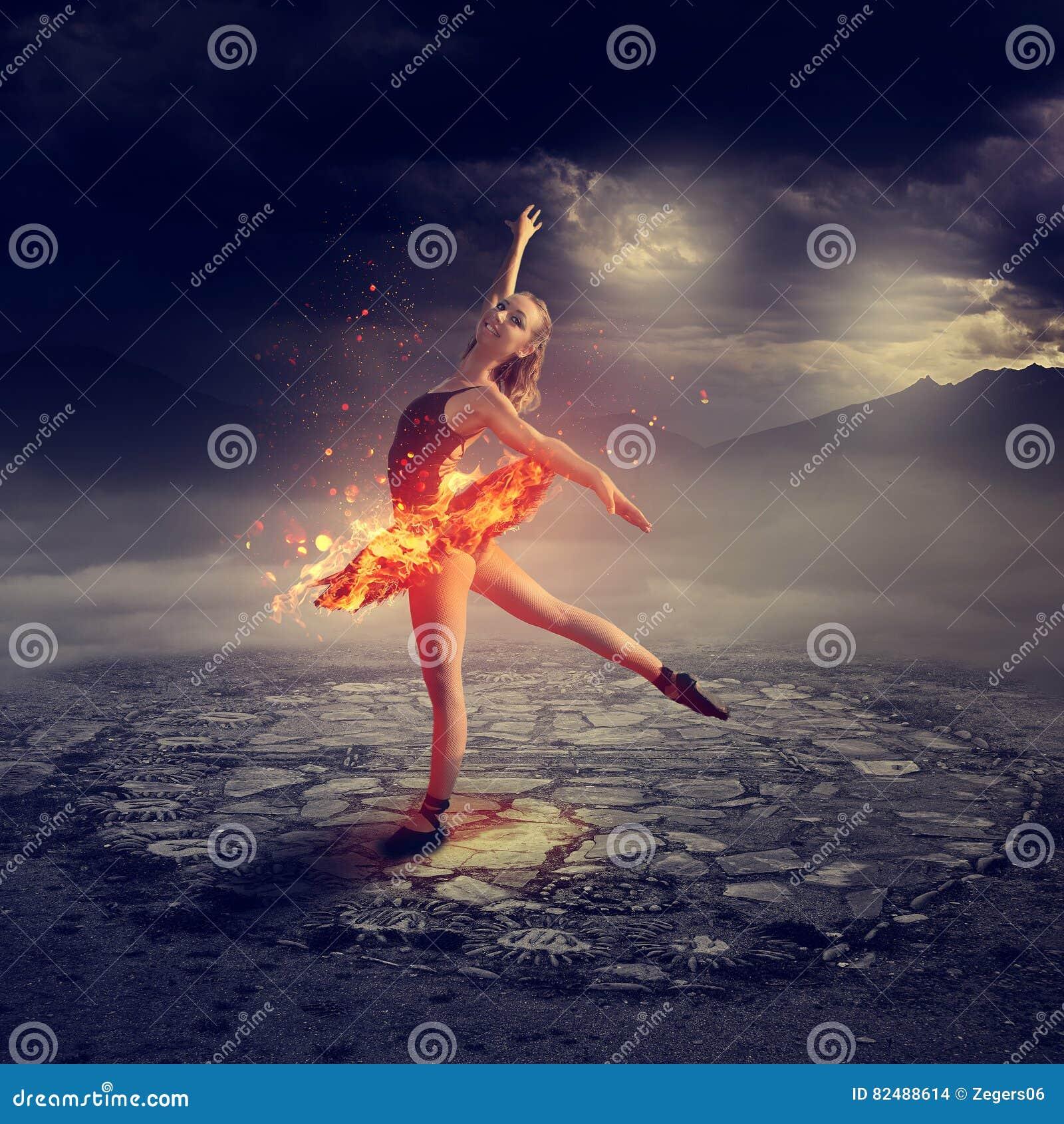 Νέος χορευτής μπαλέτου στην πυρκαγιά