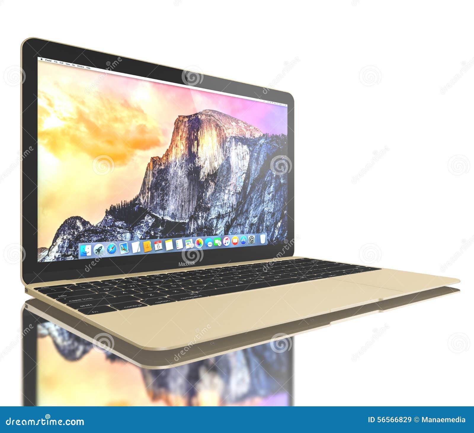 Download Νέος χρυσός αέρας MacBook εκδοτική στοκ εικόνα. εικόνα από υπολογιστές - 56566829