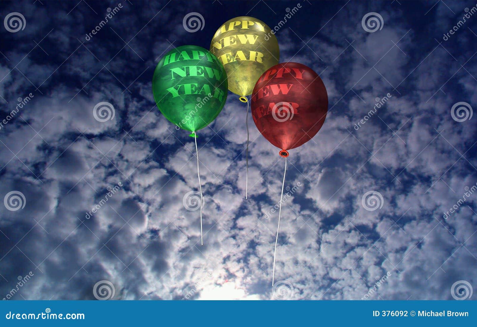 νέο έτος αυγής μπαλονιών