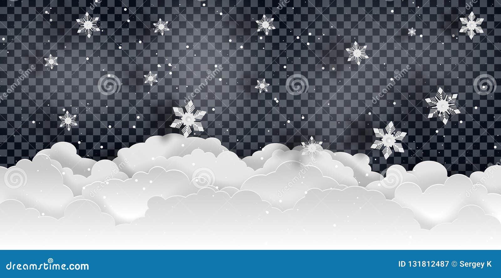 νέο έτος Χριστουγέννων Μειωμένο διάνυσμα χιονιού
