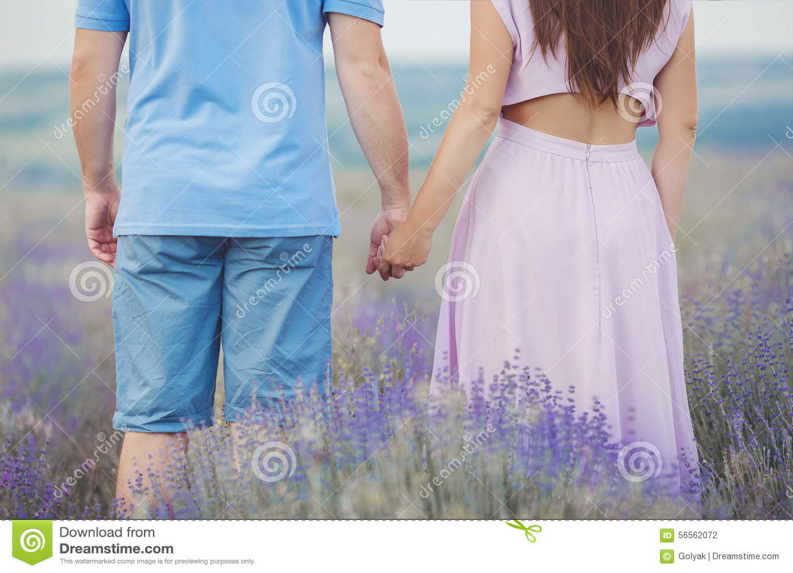 Download Νέο ζεύγος στους Lavender τομείς Στοκ Εικόνες - εικόνα από ευτυχής, δάσος: 56562072