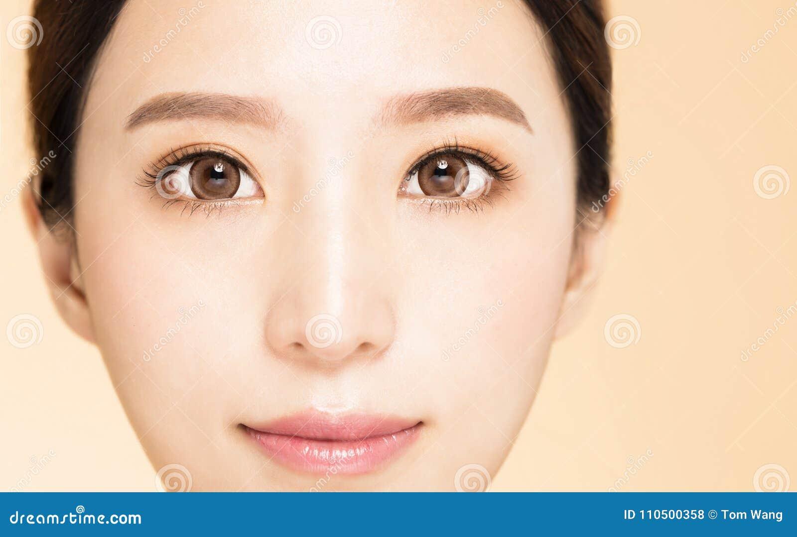 Νέο όμορφο μάτι γυναικών κινηματογραφήσεων σε πρώτο πλάνο