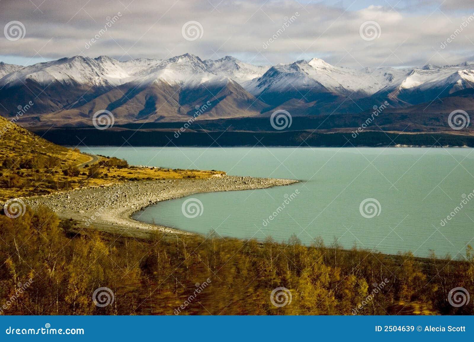 νέο pukaki Ζηλανδία λιμνών
