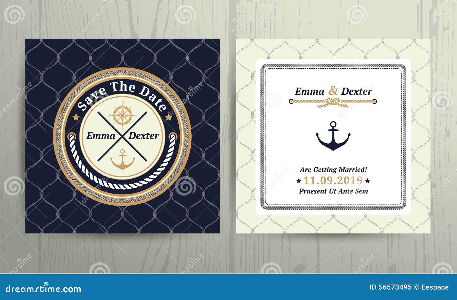 Download Ναυτική γαμήλια κάρτα σχοινιών στο υπόβαθρο διχτυών ψαρέματος Διανυσματική απεικόνιση - εικονογραφία από party, fishnet: 56573495