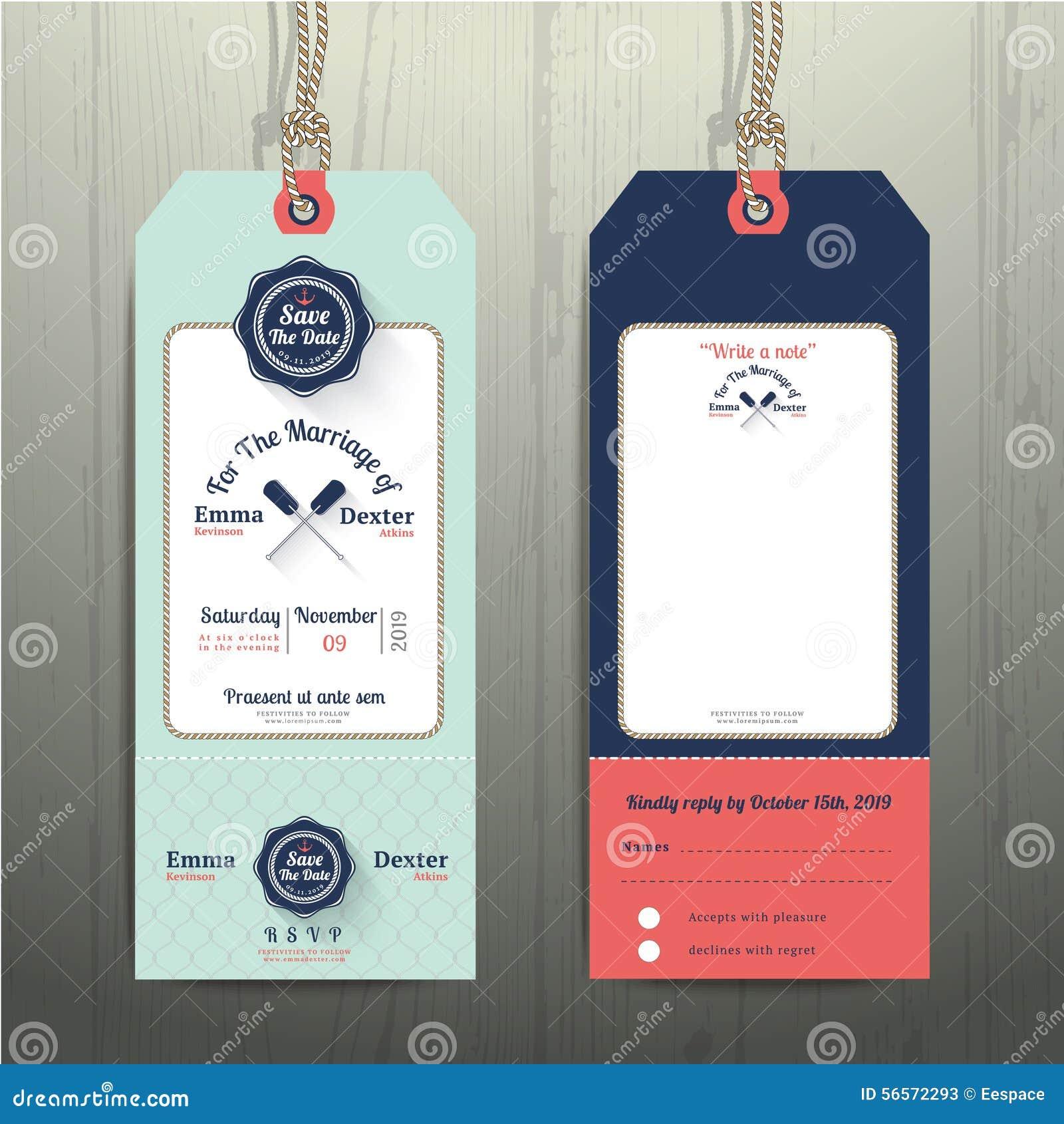 Download Ναυτική γαμήλια πρόσκληση ετικεττών ένωσης και κάρτα RSVP με το σχέδιο σχοινιών διχτυών ψαρέματος Διανυσματική απεικόνιση - εικονογραφία από πρόσκληση, ετικέτα: 56572293