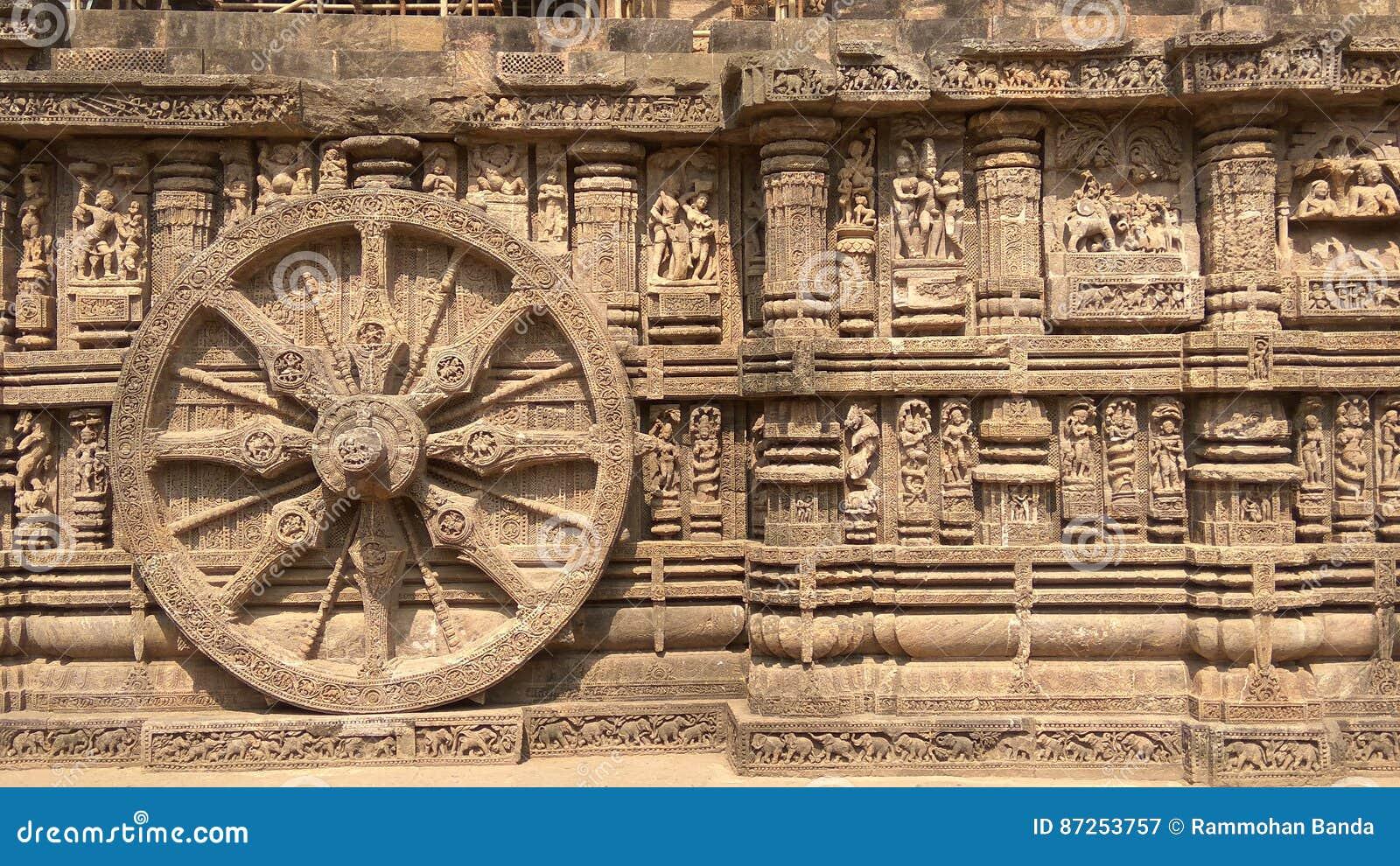 Ναός ήλιων Konark - αρχιτεκτονική ομορφιά της Ινδίας