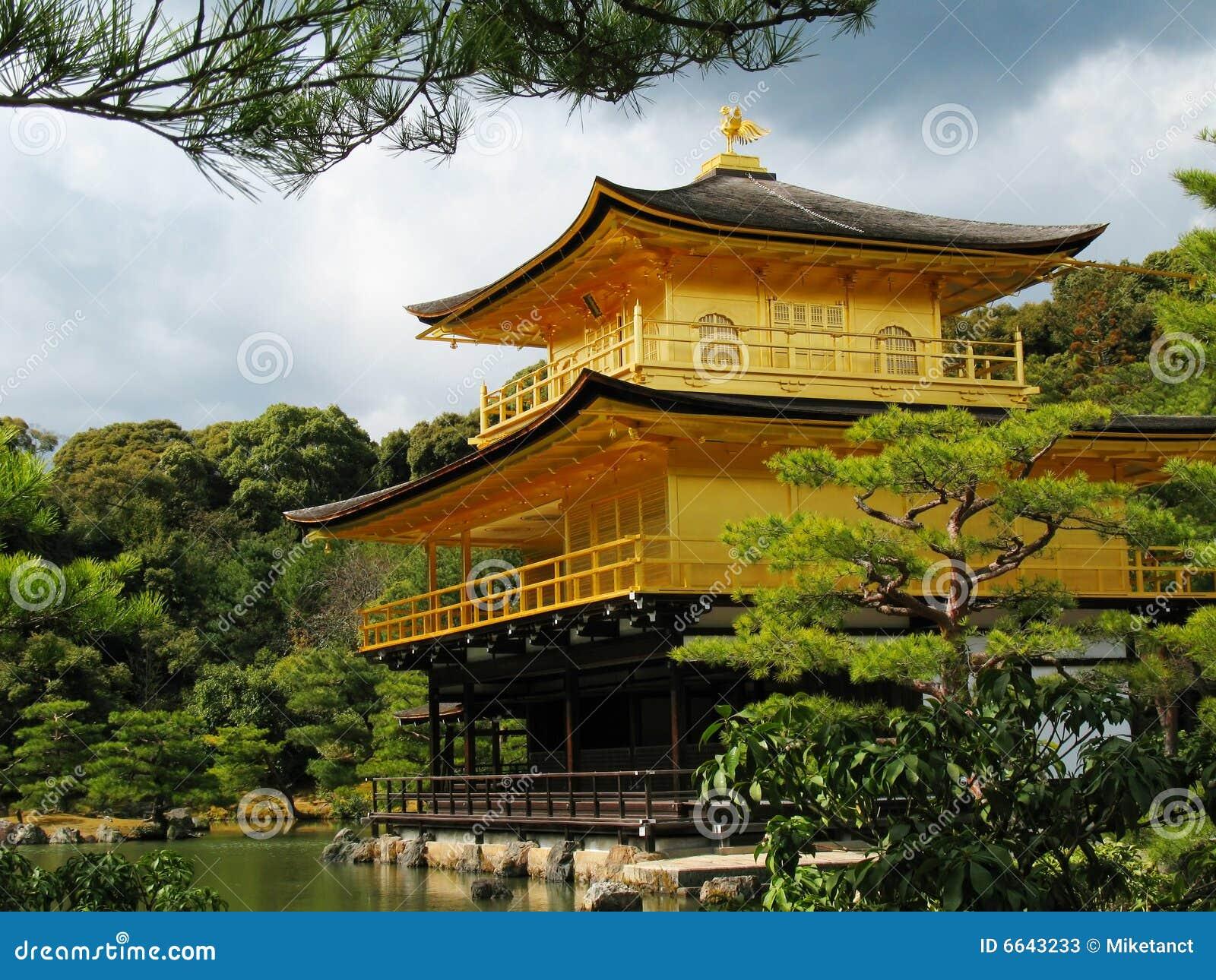 ναός του Κιότο kinkakuji της Ιαπω&nu