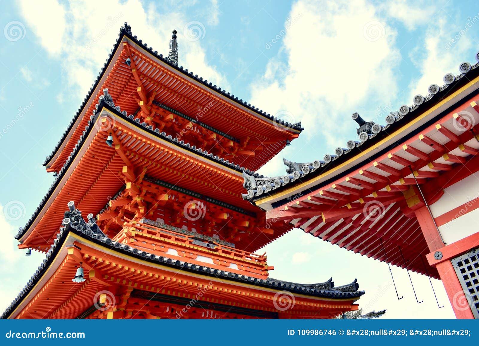 Ναός kiyomizu-Dera το φθινόπωρο, Κιότο, Ιαπωνία