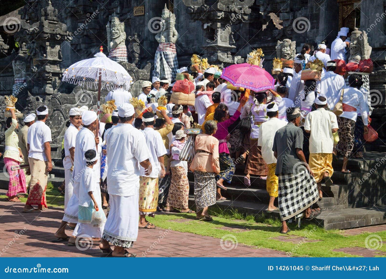 ναός pura της Ινδονησίας goa πλήθ&o